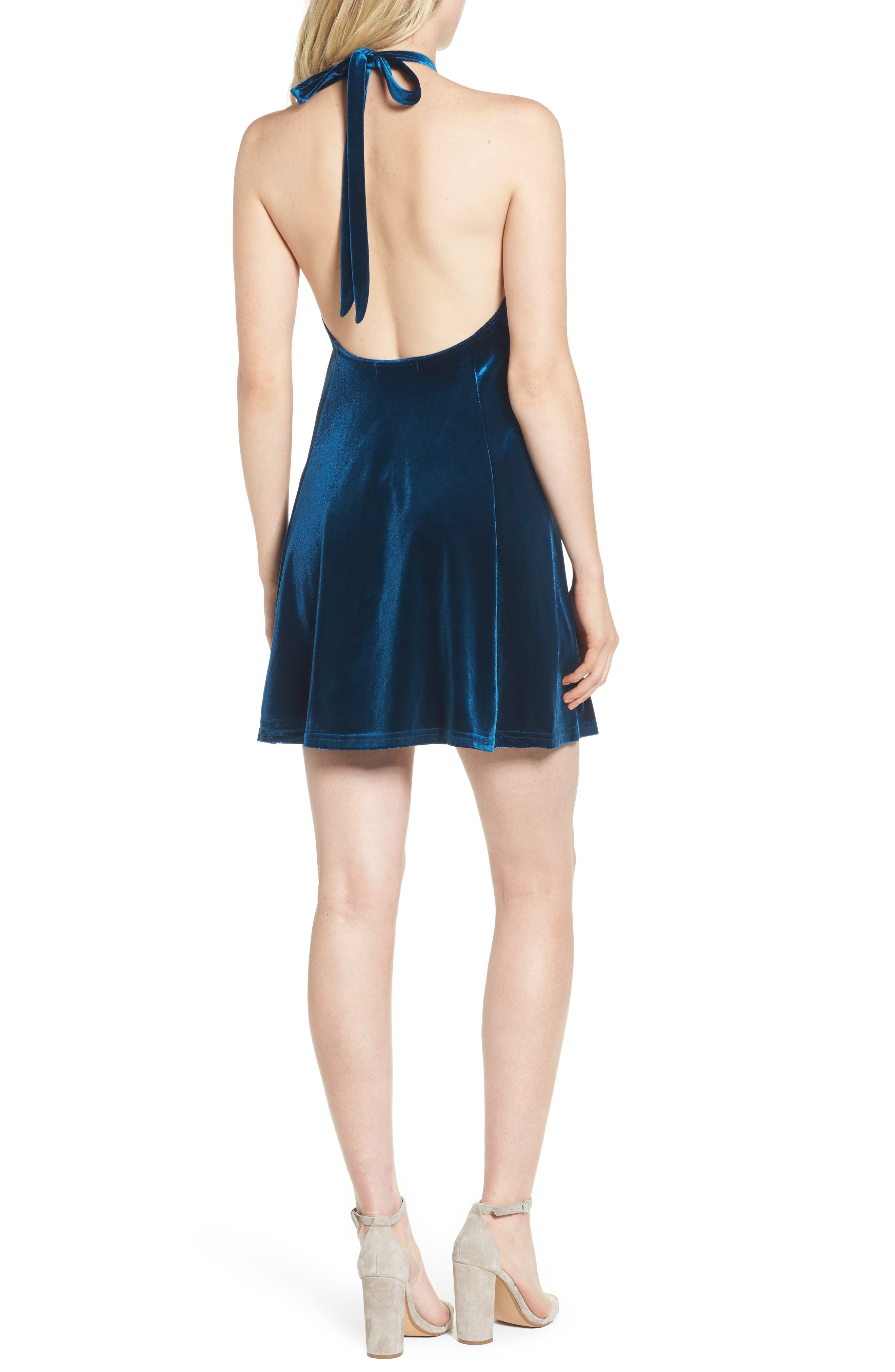 Alternate Image 2  - Bishop + Young Talia Velvet Minidress