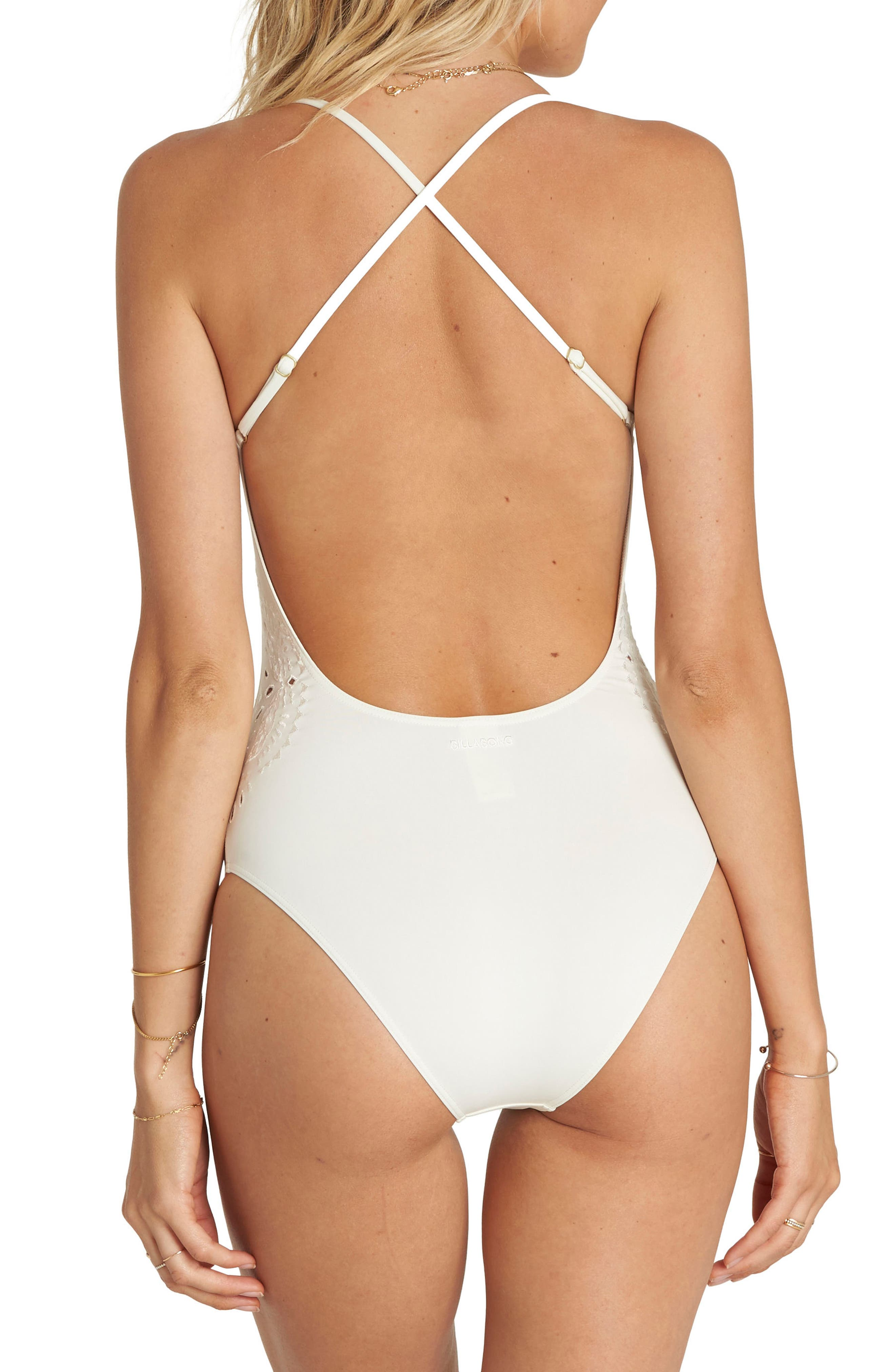 Bright One One-Piece Swimsuit,                             Alternate thumbnail 2, color,                             Seashell