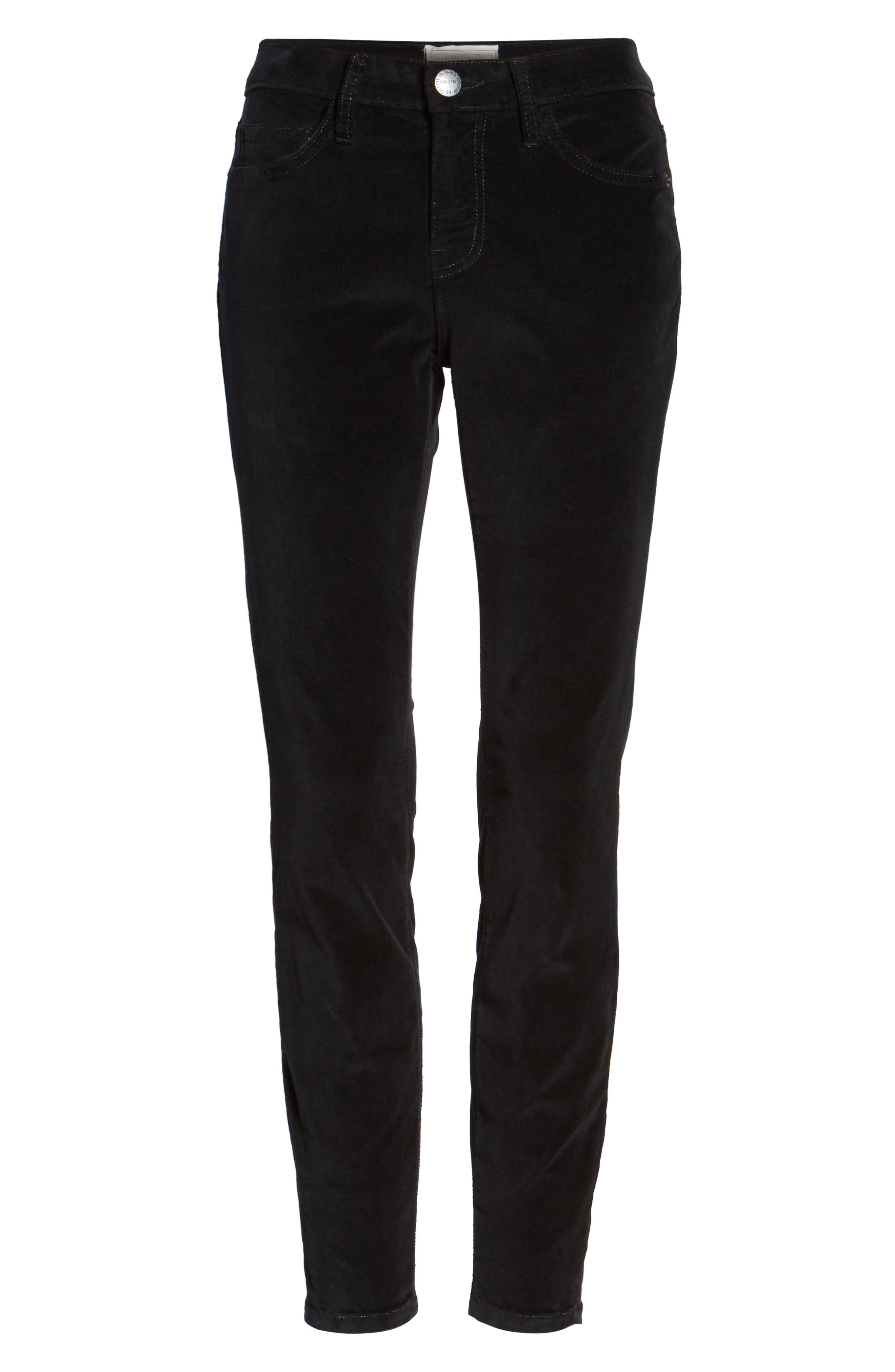 The Stiletto Ankle Skinny Pants,                             Alternate thumbnail 6, color,                             Jet Black 2