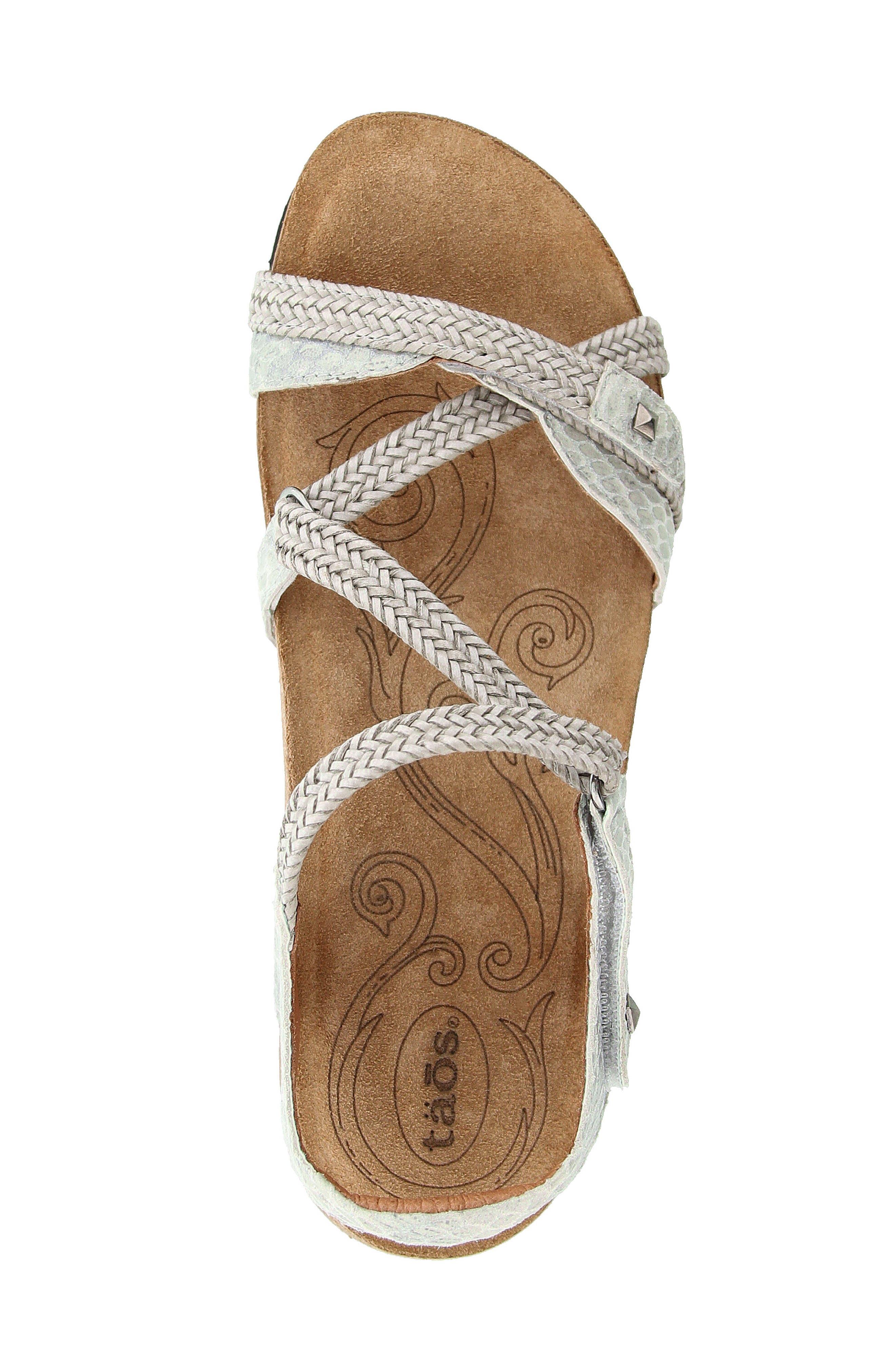 Ziggie Sandal,                             Alternate thumbnail 4, color,                             Ice Snake Leather