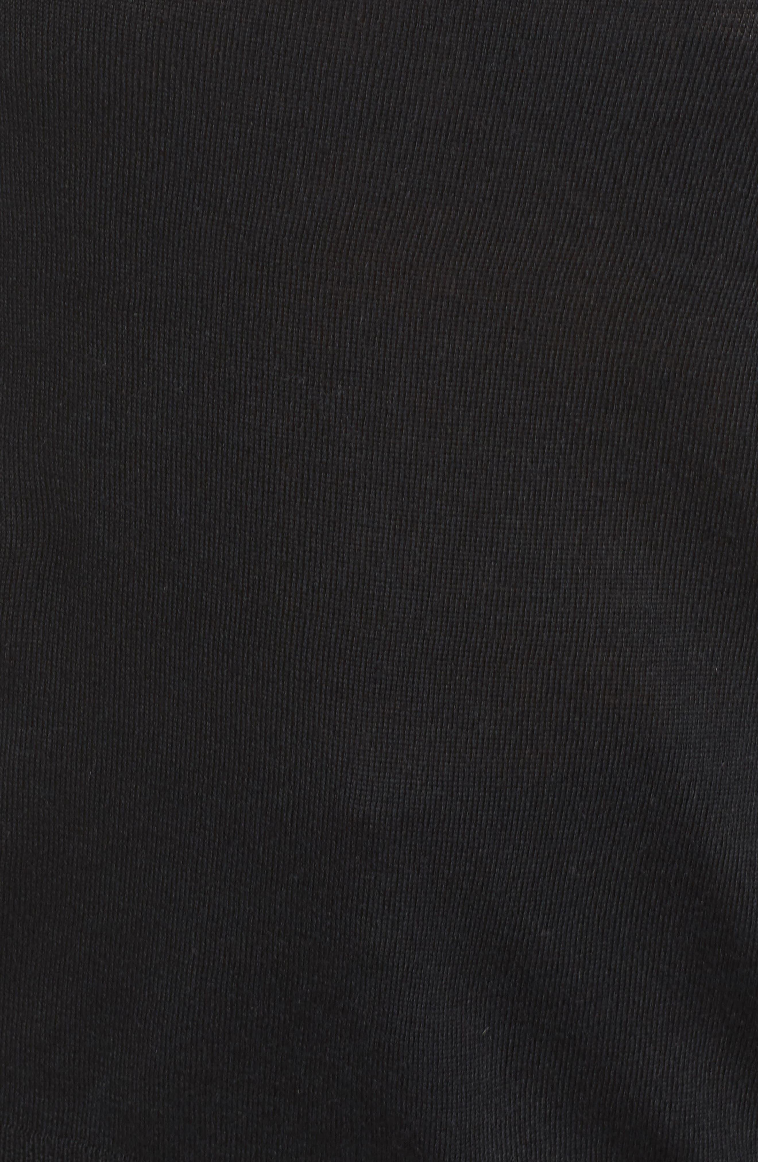 Merino Wool Blend Turtleneck Sweater,                             Alternate thumbnail 5, color,                             Black