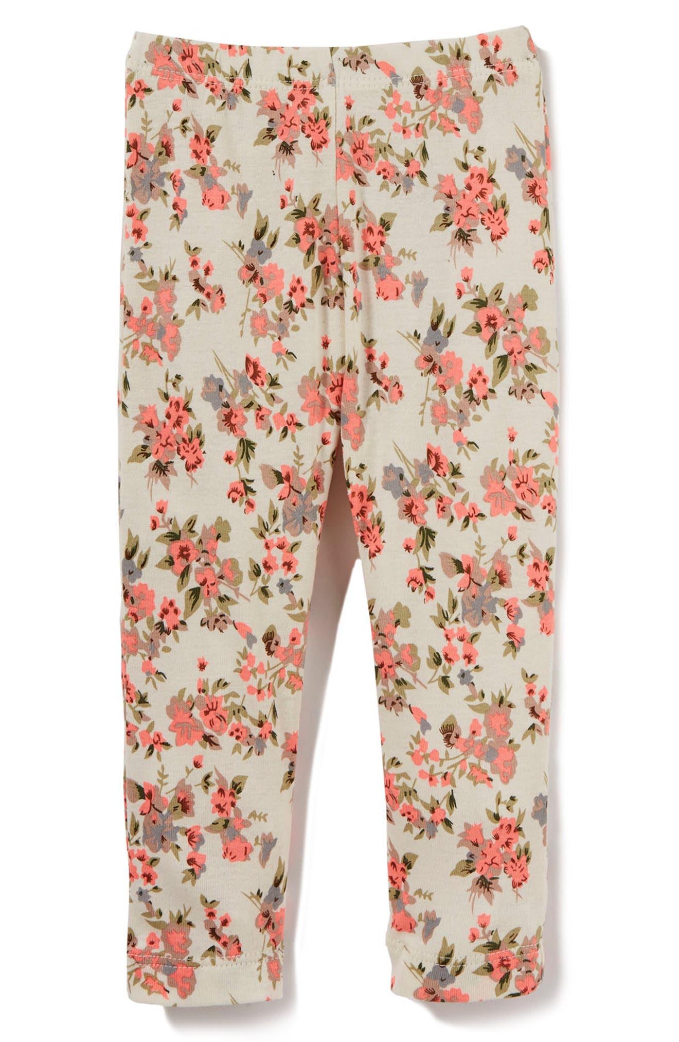 Peek Floral Leggings,                             Main thumbnail 1, color,                             Ivory