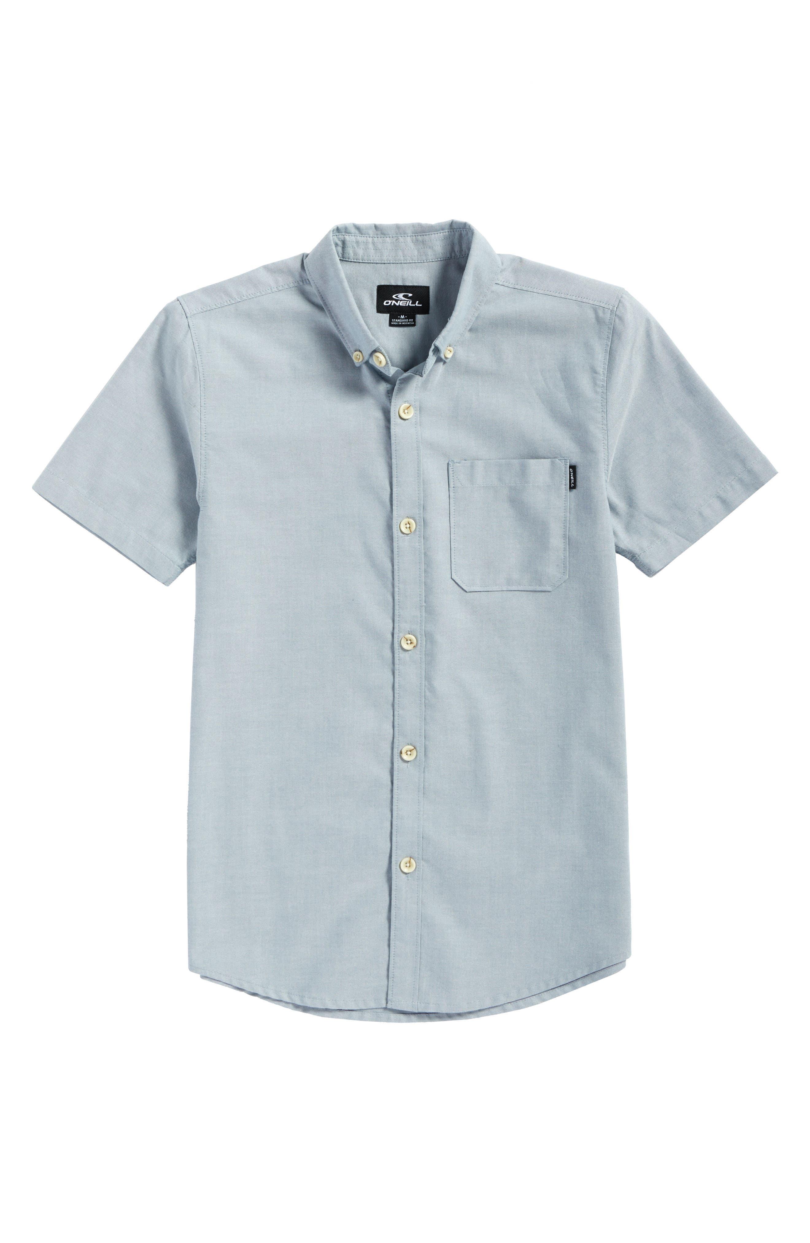 Main Image - O'Neill Bank Woven Shirt (Big Boys)