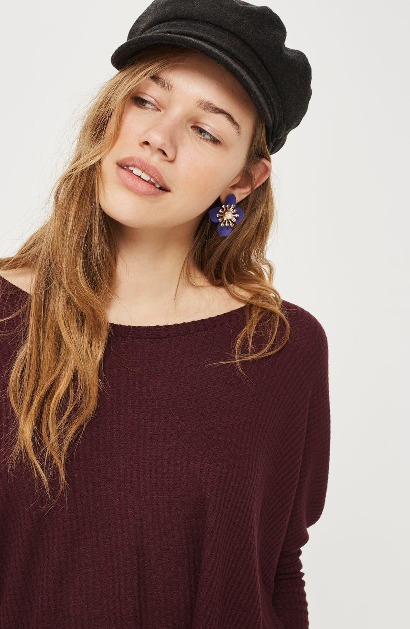 Alternate Image 2  - Topshop Waffle Knit Sweatshirt