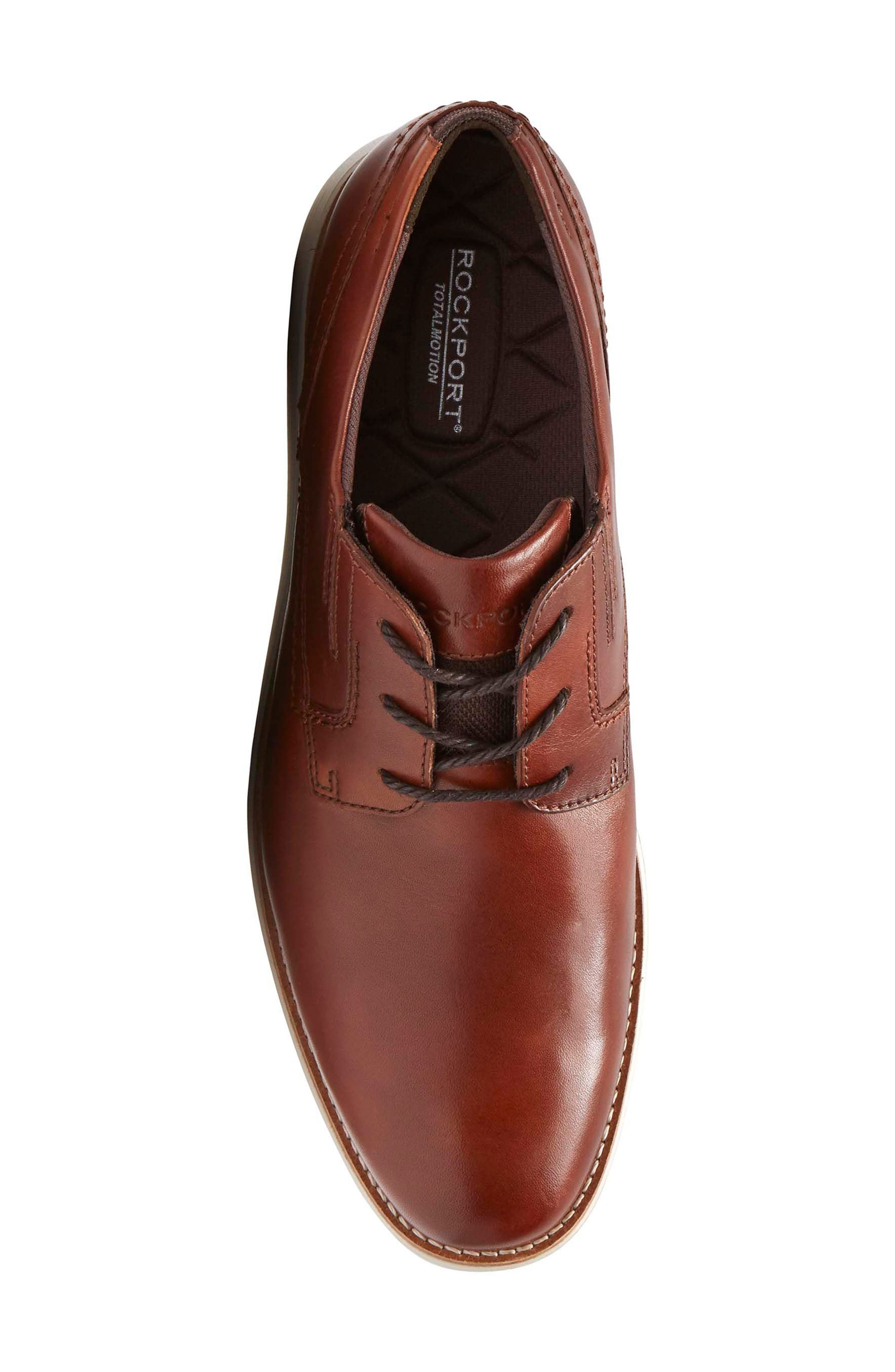 Total Motion Sport Plain Toe Derby,                             Alternate thumbnail 5, color,                             Tan Leather