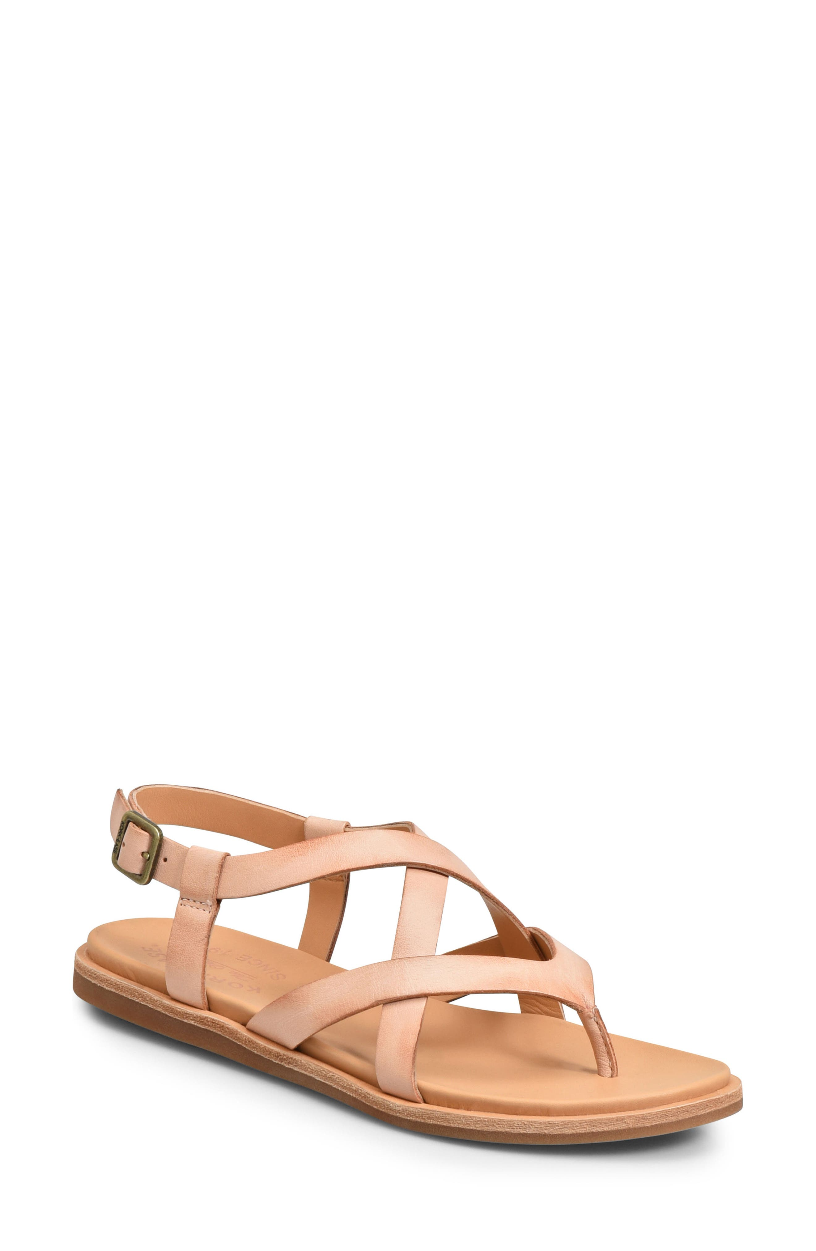 Yarbrough Sandal,                             Main thumbnail 1, color,                             Blush Leather
