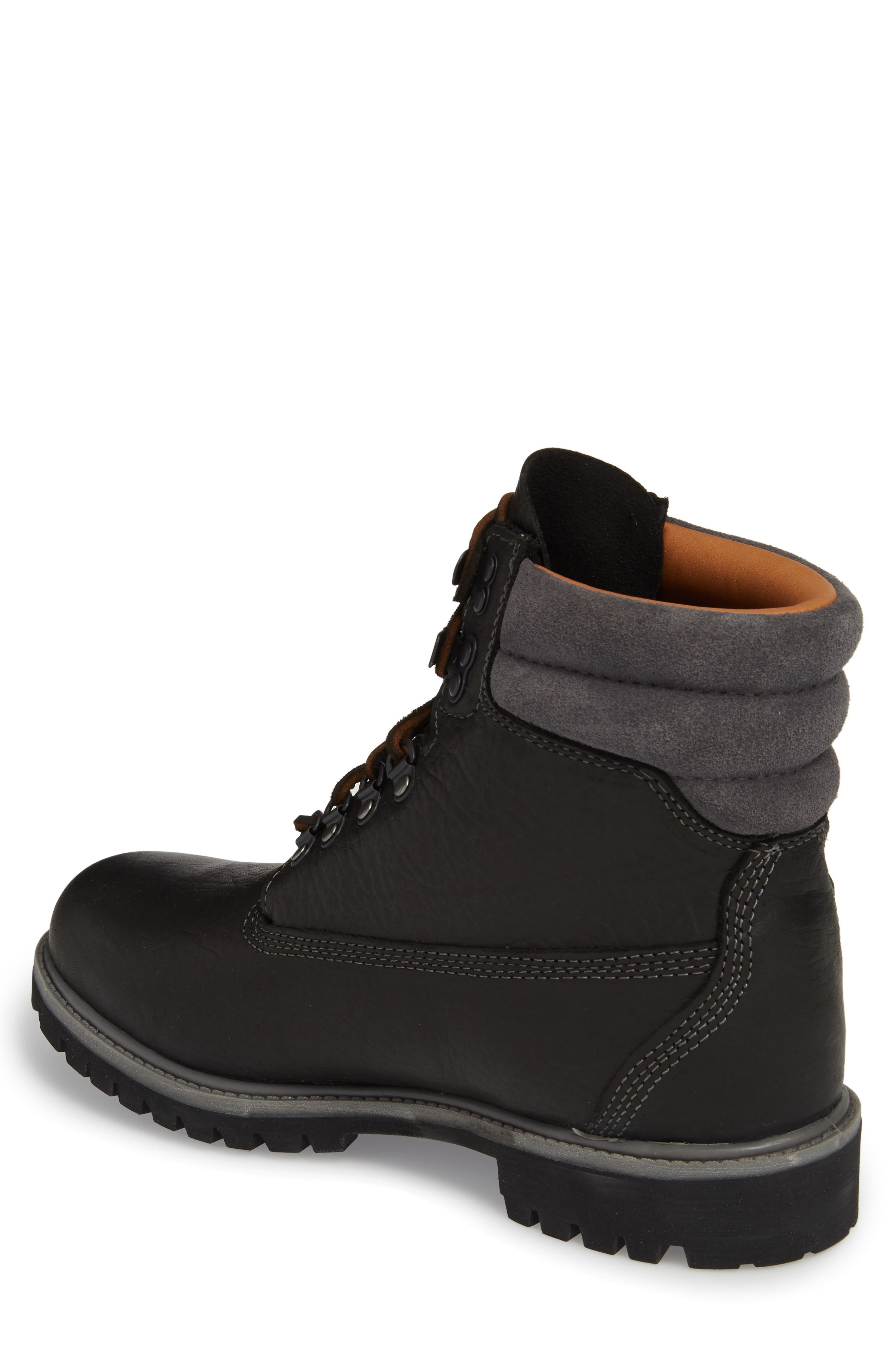 640 Below Plain Toe Boot,                             Alternate thumbnail 2, color,                             Black Highway Leather