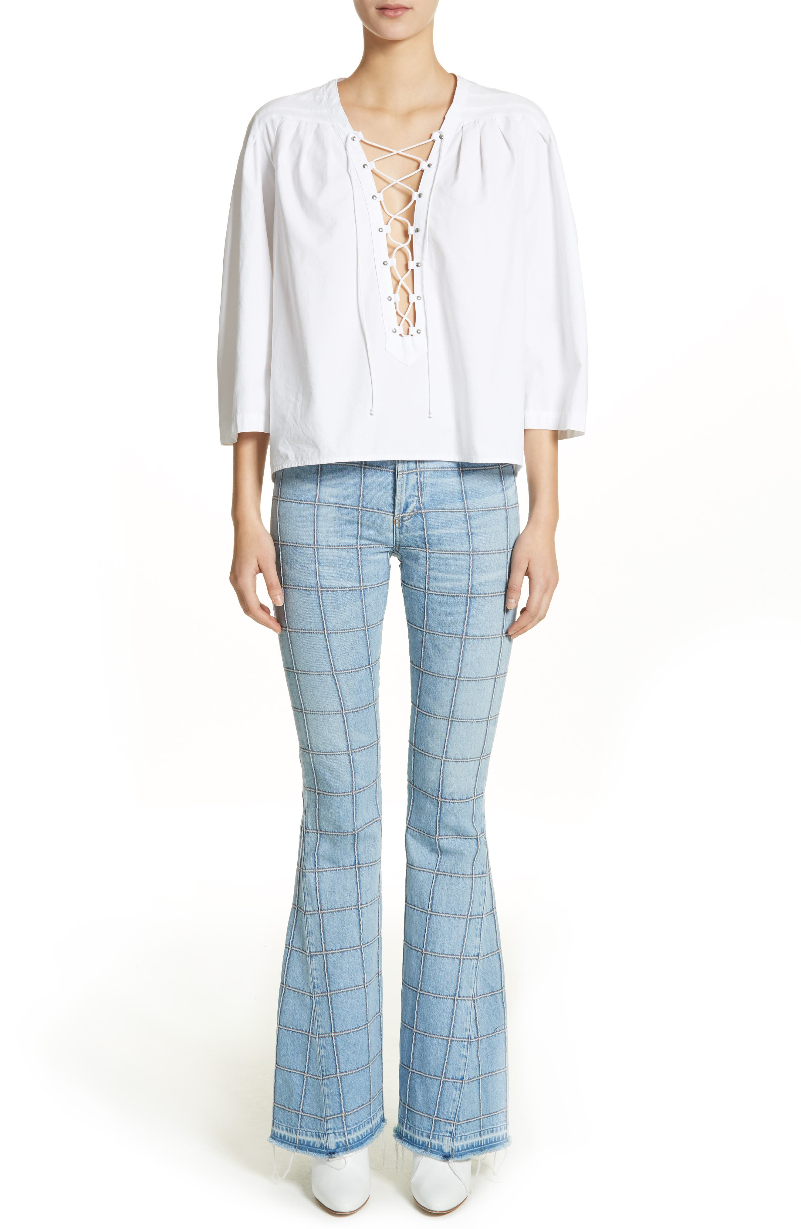 Janis High Rise Flare Jeans,                             Alternate thumbnail 9, color,                             Carnaby