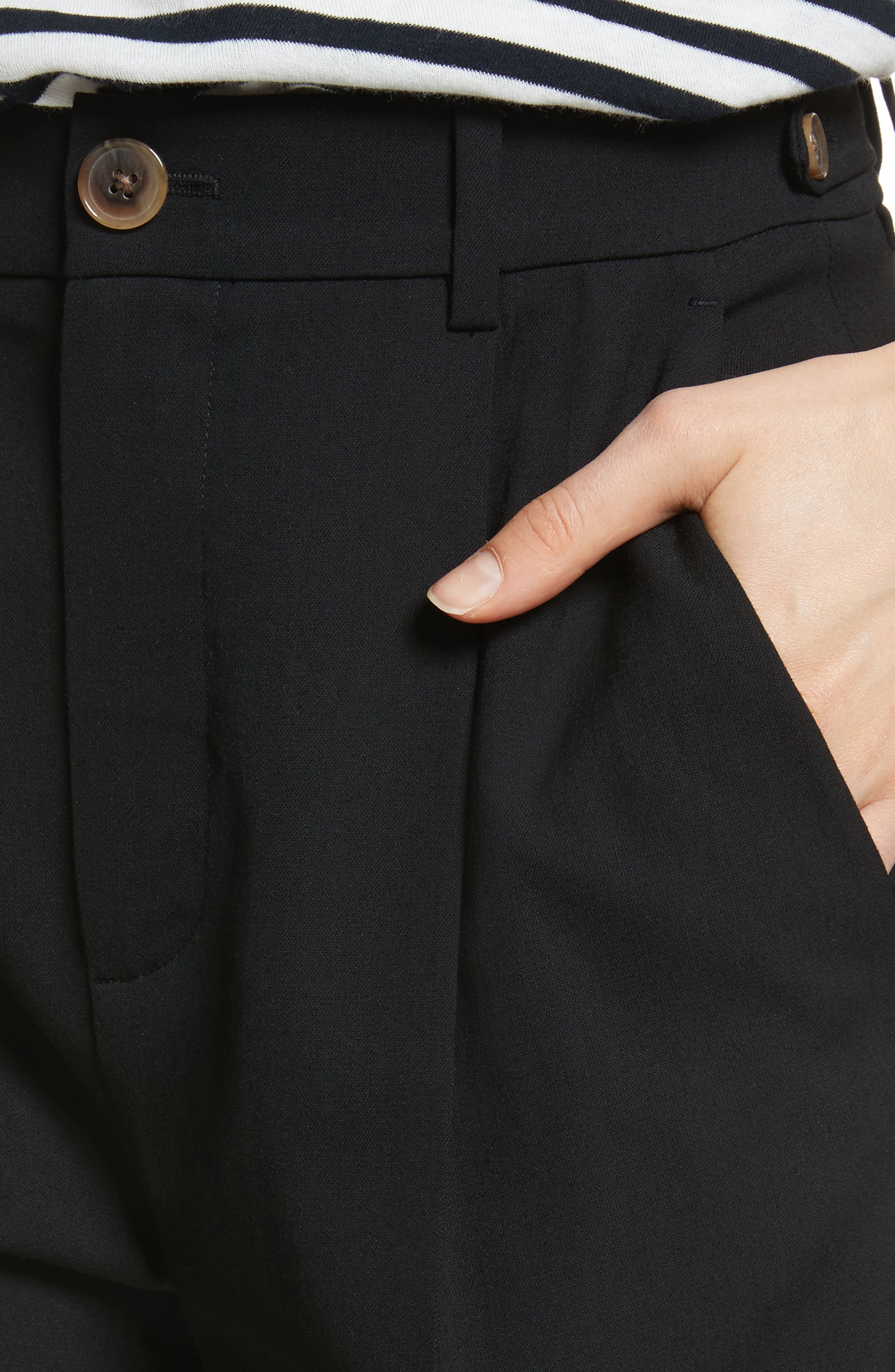 Relaxed Trousers,                             Alternate thumbnail 4, color,                             Black