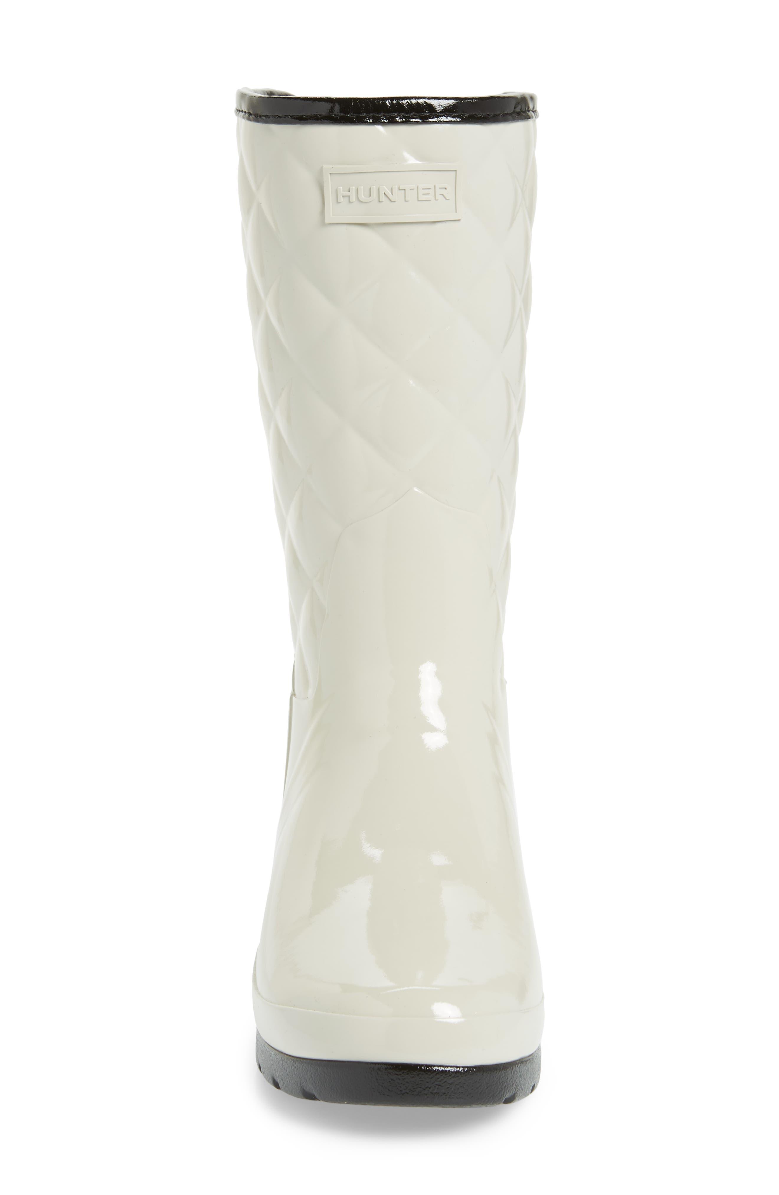 Alternate Image 4  - Hunter Refined High Gloss Quilted Short Rain Boot (Women)