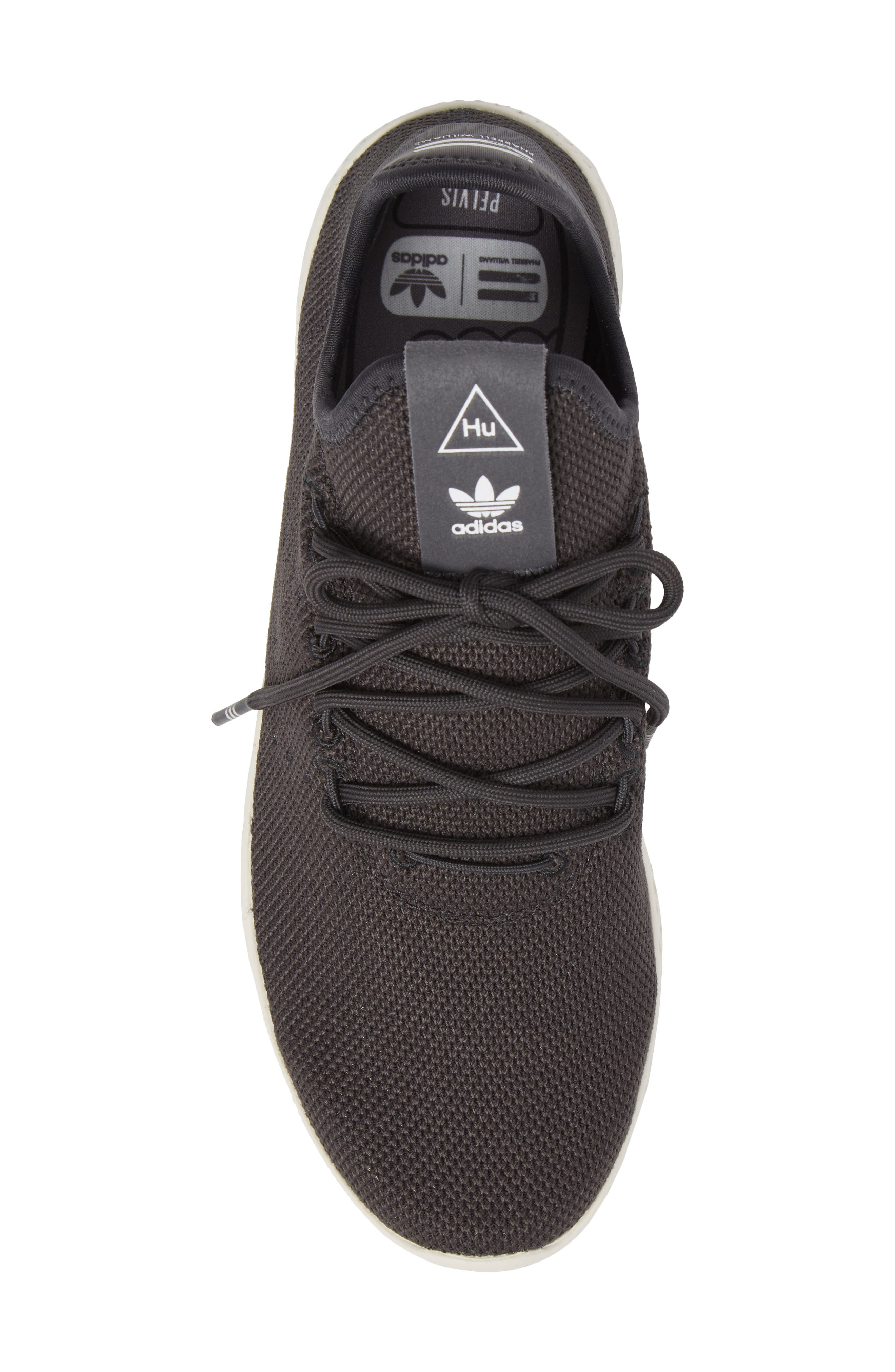 Pharrell Williams Tennis Hu Sneaker,                             Alternate thumbnail 5, color,                             Carbon / Carbon / Chalk White