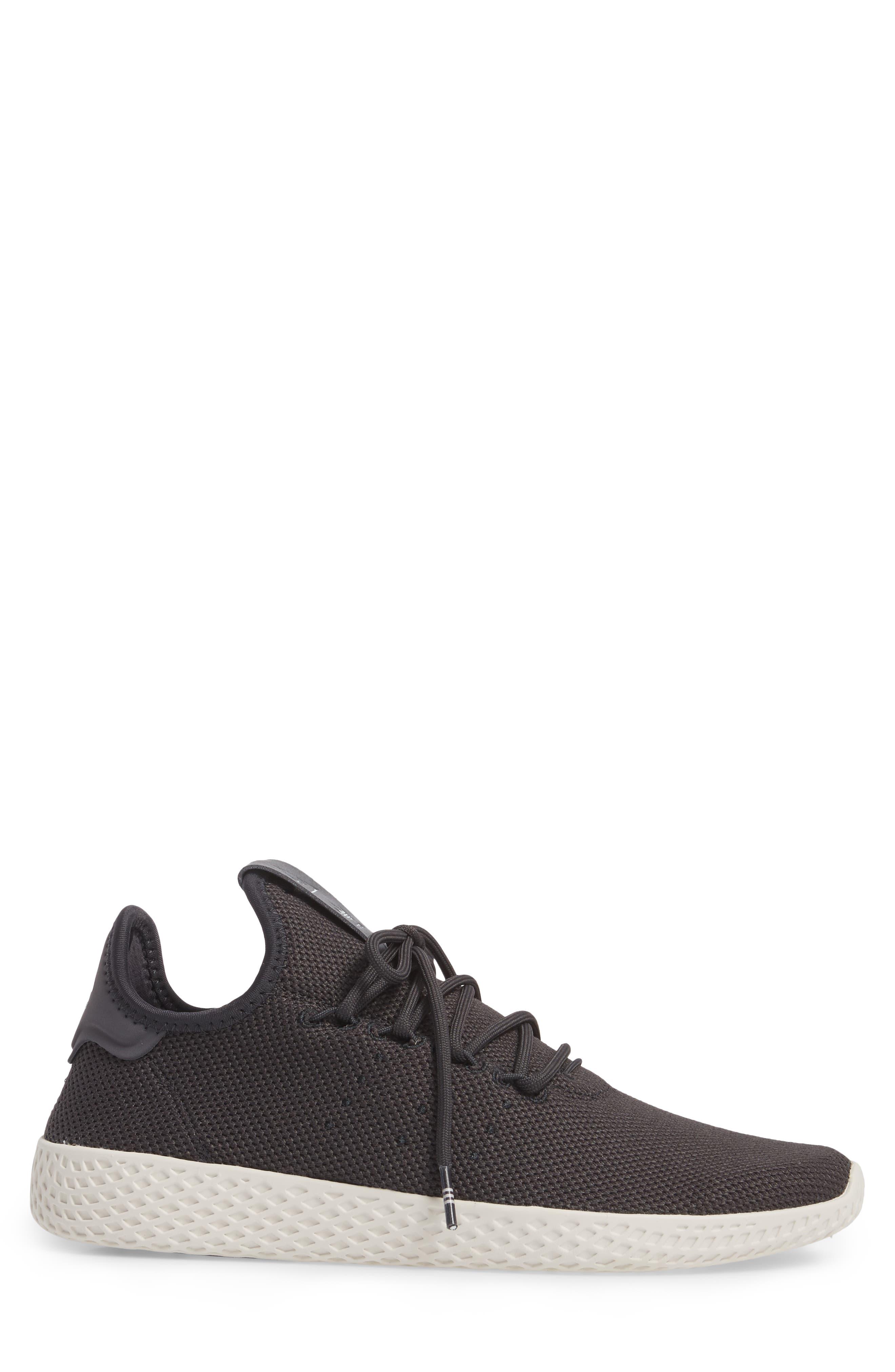 Pharrell Williams Tennis Hu Sneaker,                             Alternate thumbnail 3, color,                             Carbon / Carbon / Chalk White