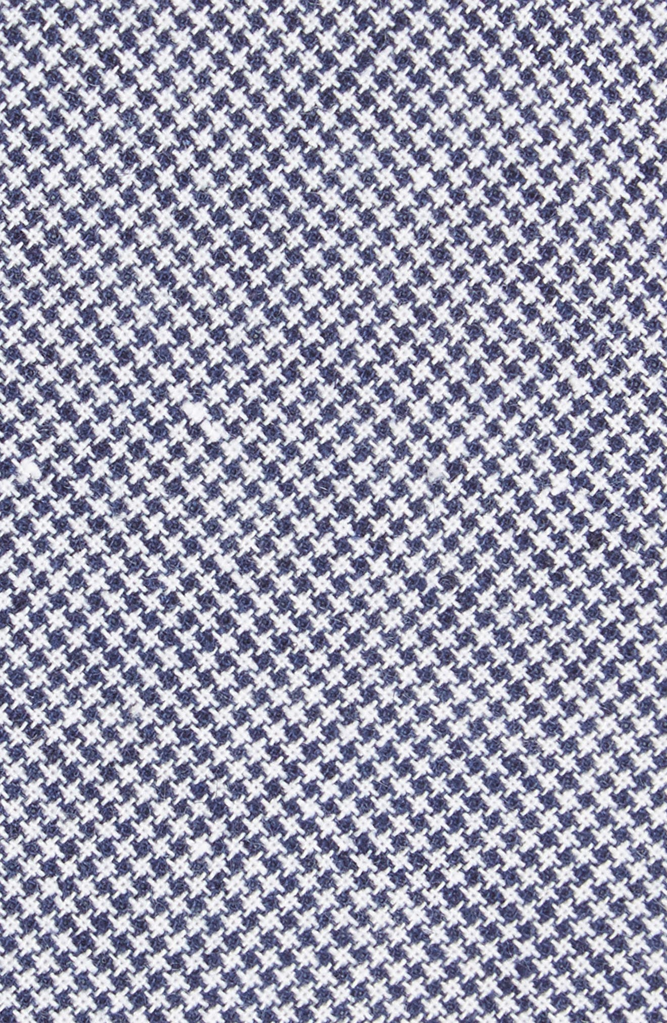 Ralph Houndstooth Cotton & Linen Tie,                             Alternate thumbnail 2, color,                             Navy
