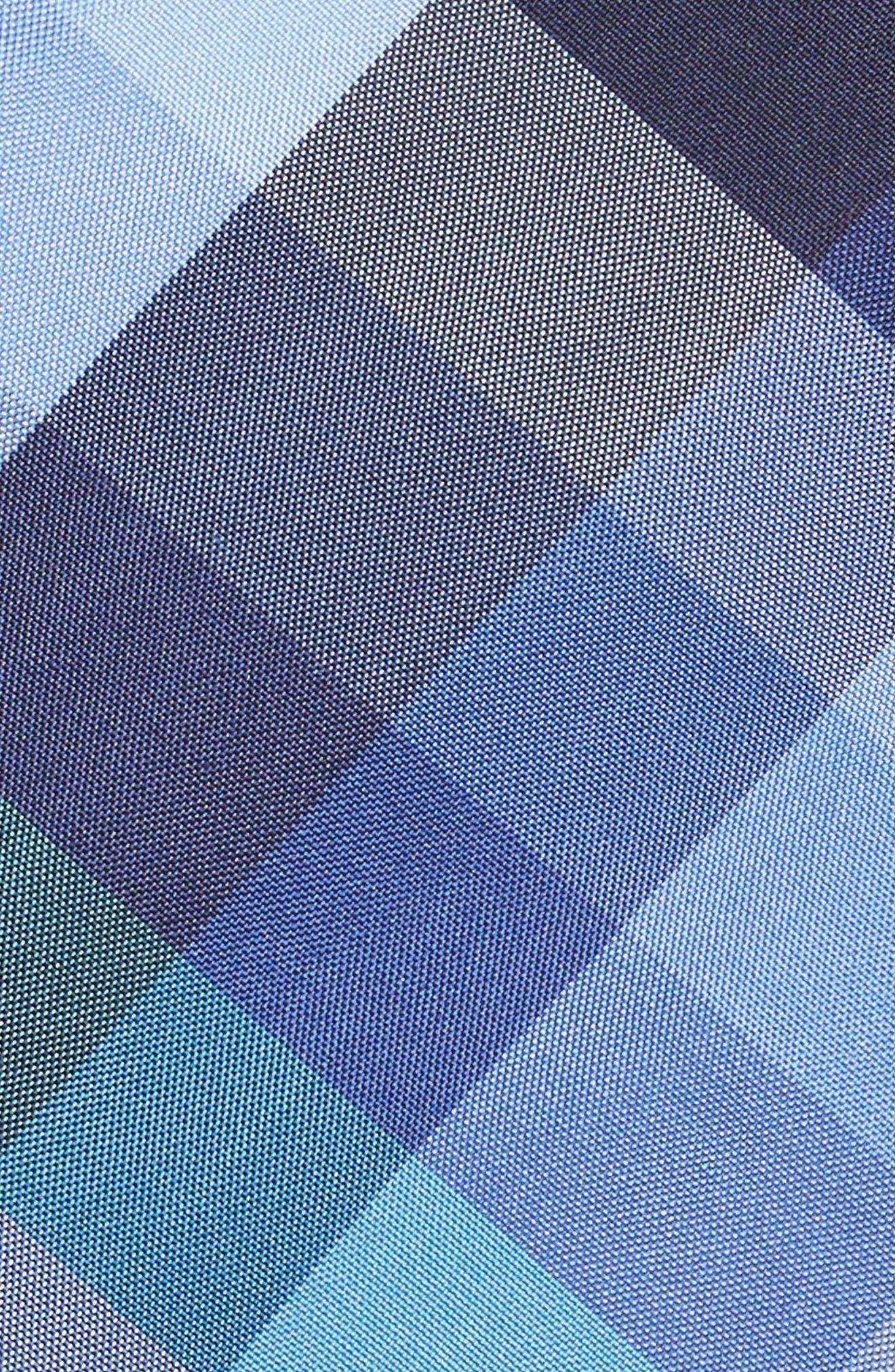 Autumn Check Silk Skinny Tie,                             Alternate thumbnail 2, color,                             Navy