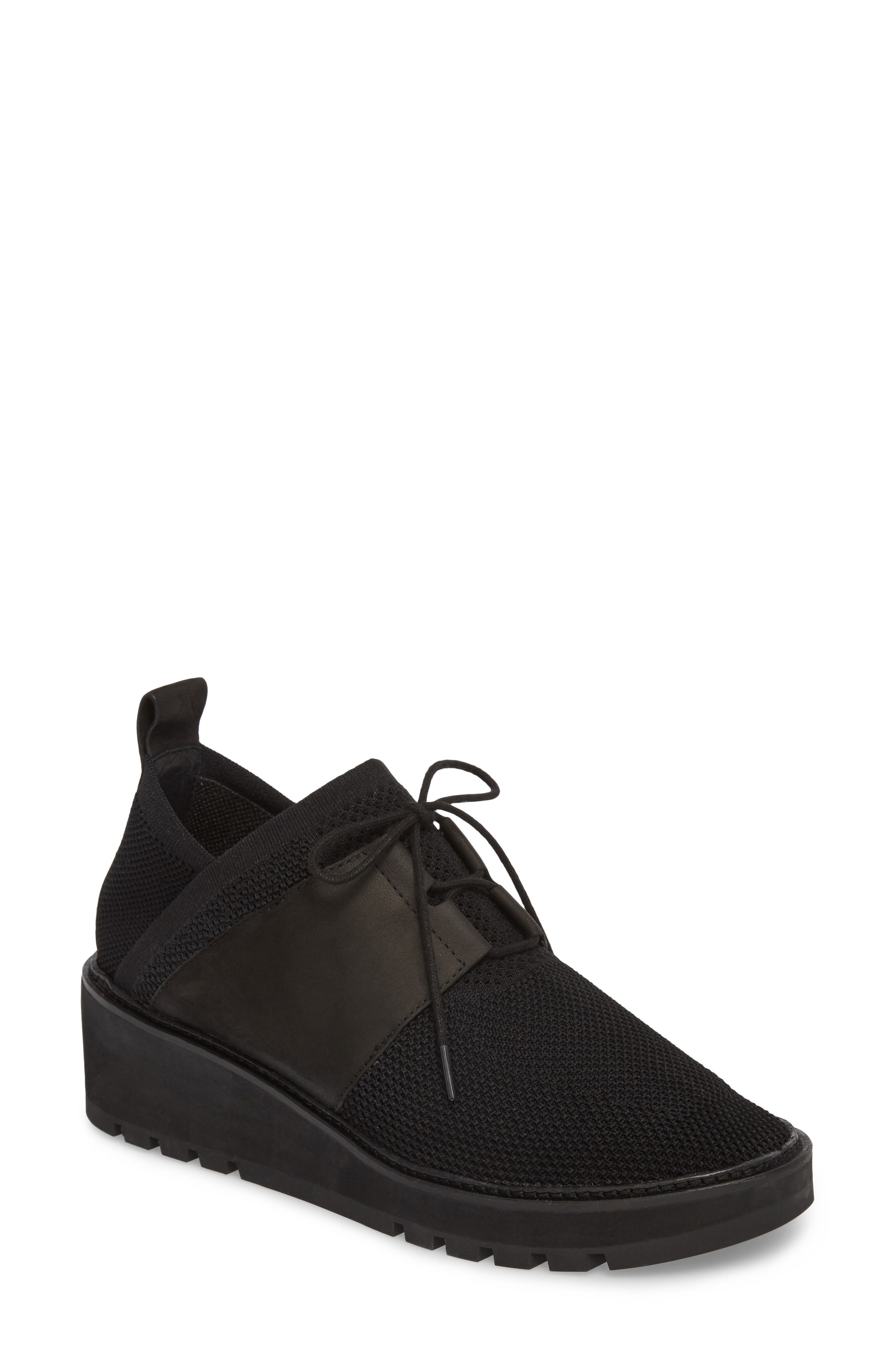 Wilson Sneaker,                         Main,                         color, Black Fabric