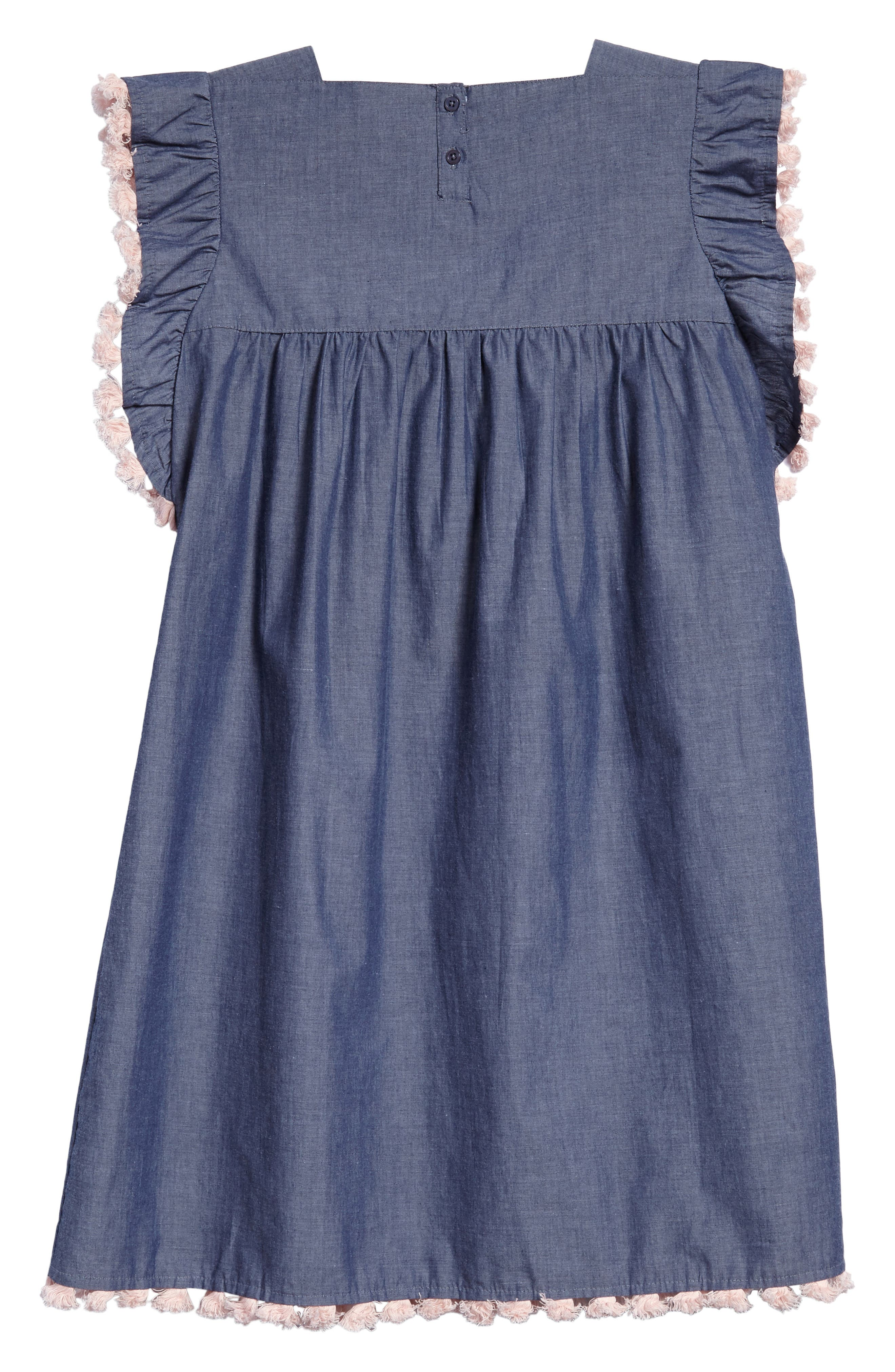 Sophia Embroidered Dress,                             Alternate thumbnail 2, color,                             Chambray
