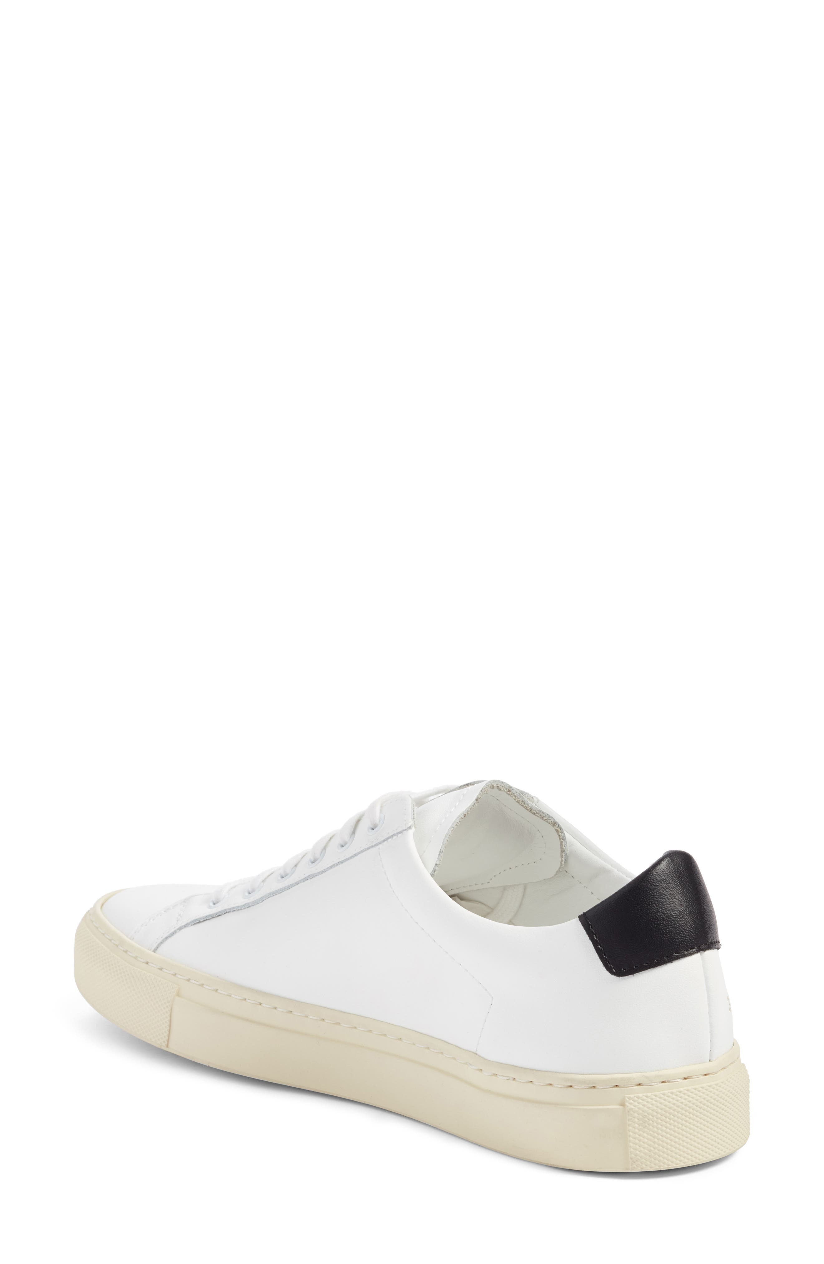 Achilles Low Top Sneaker,                             Alternate thumbnail 2, color,                             White/ Black