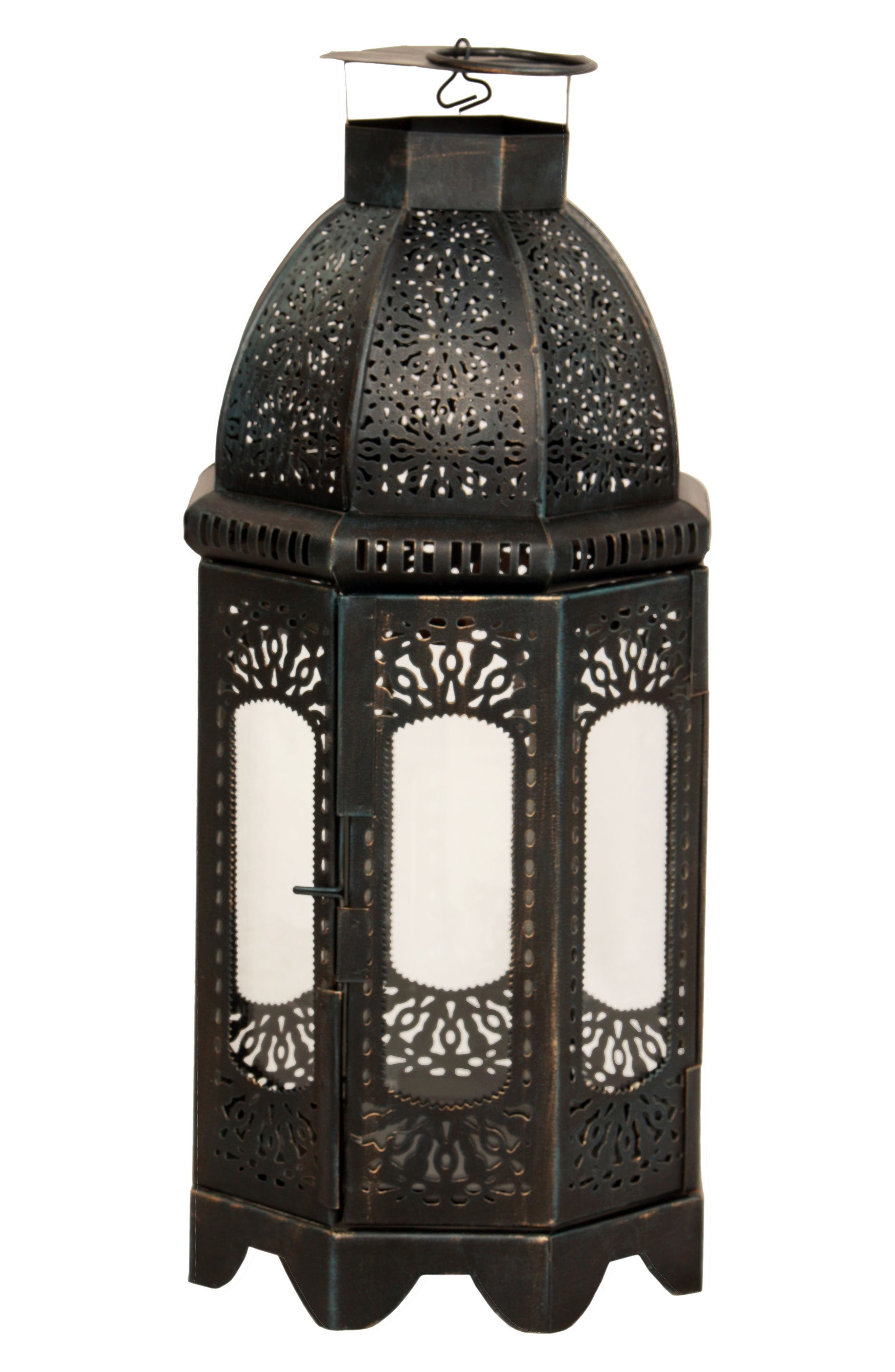 Carriage II Lantern,                             Main thumbnail 1, color,                             Black