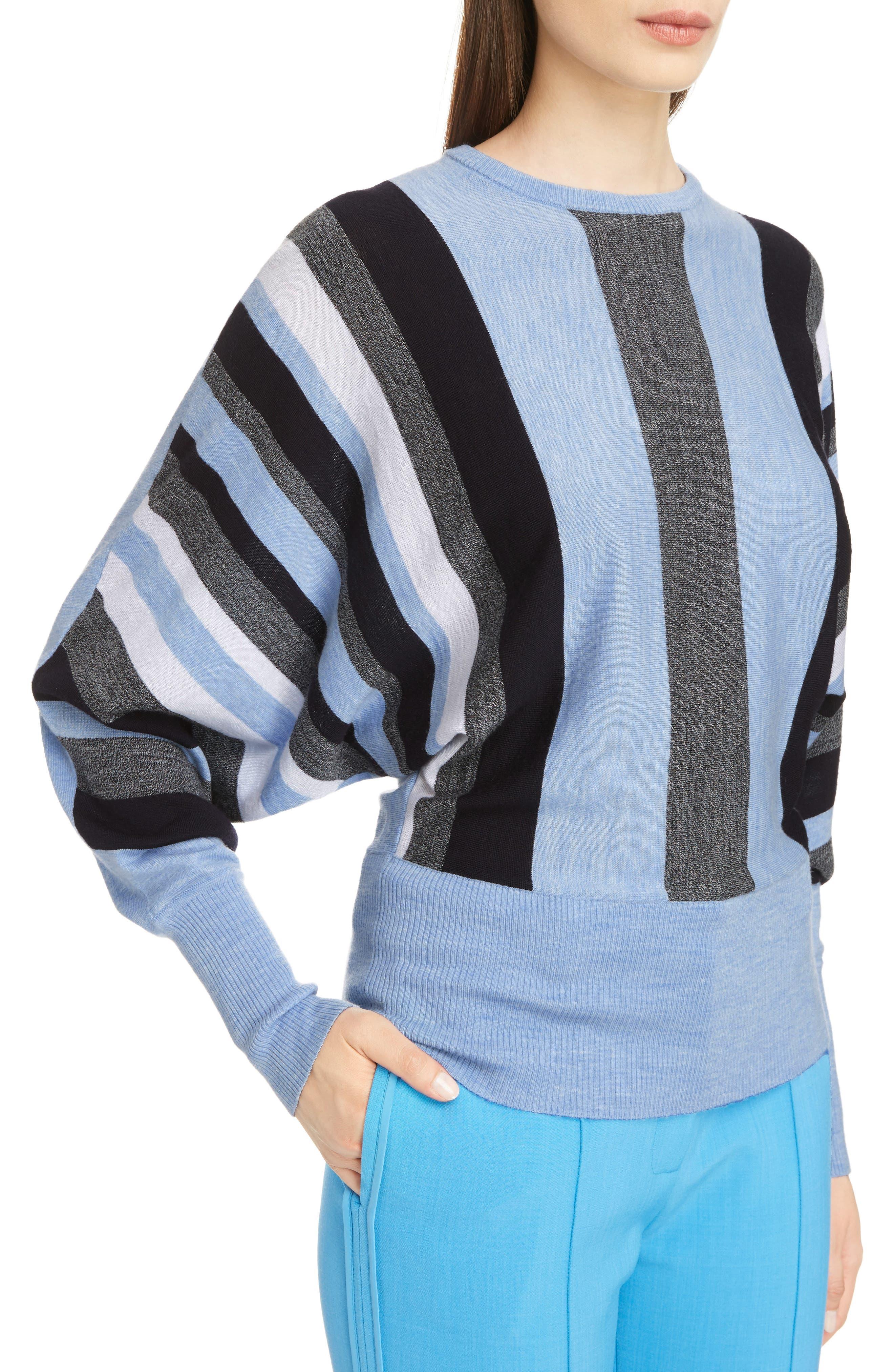 Alternate Image 5  - Victoria, Victoria Beckham Stripe Wool Dolman Sweater
