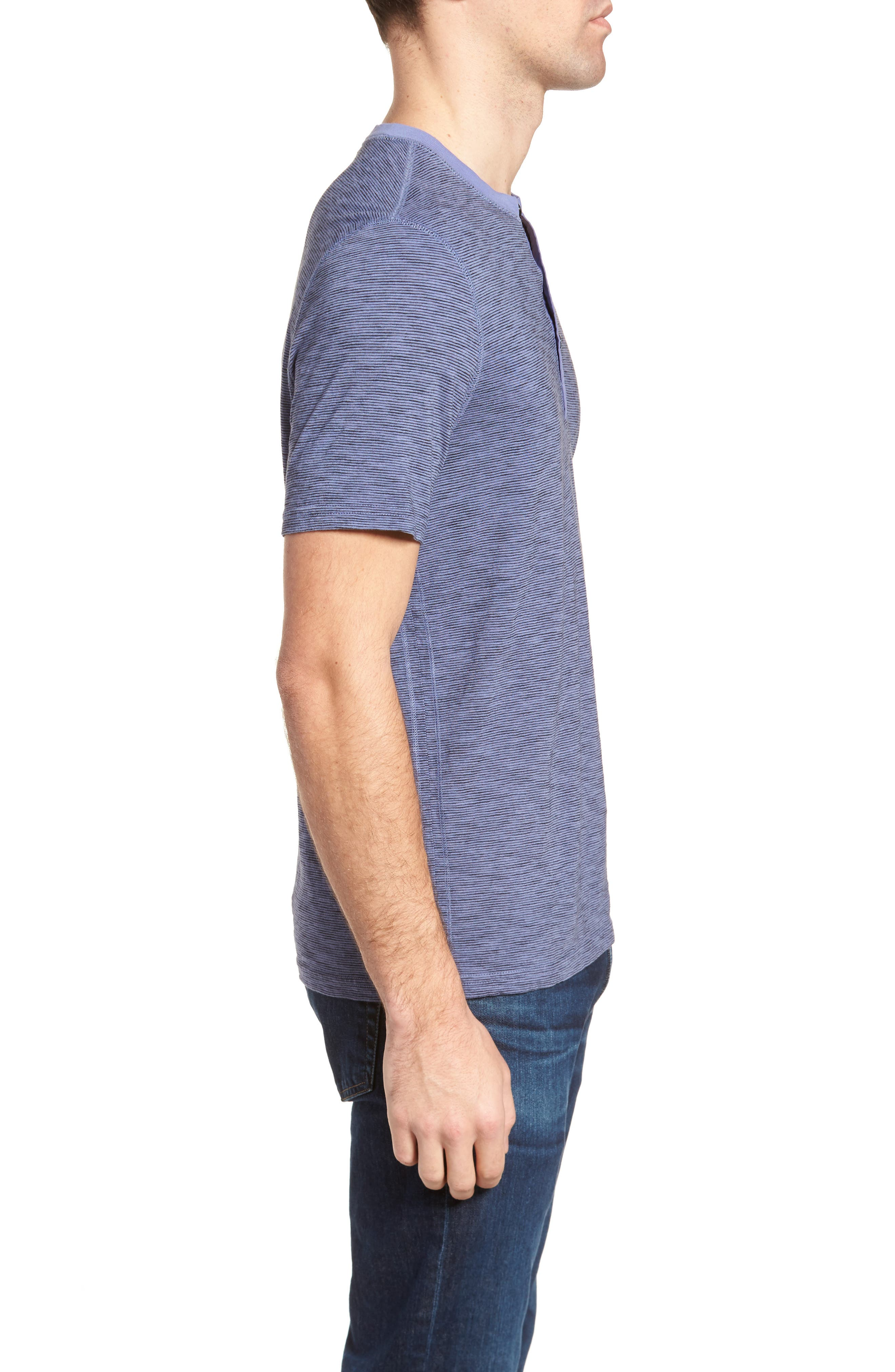 Garment Dyed Henley,                             Alternate thumbnail 3, color,                             Periwinkle