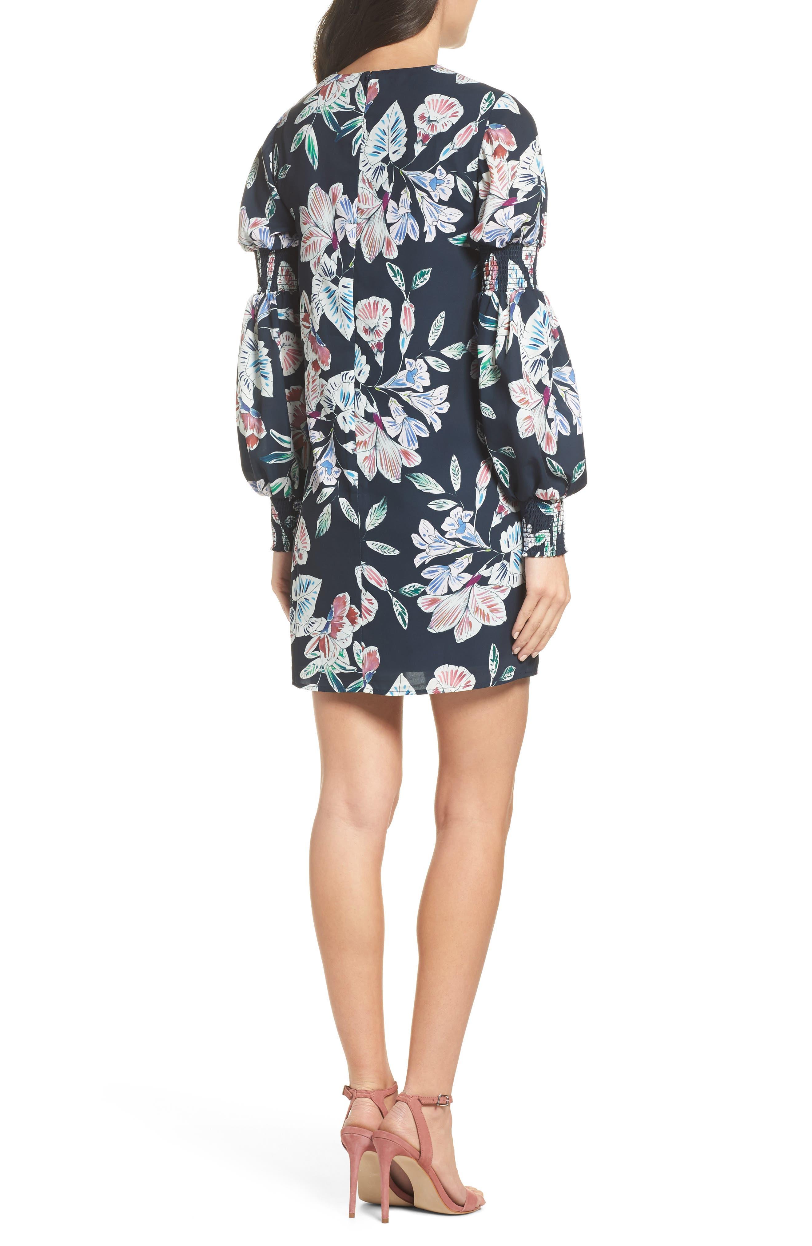 Alternate Image 2  - Cooper St Phantom Floral Smocked Sleeve Dress