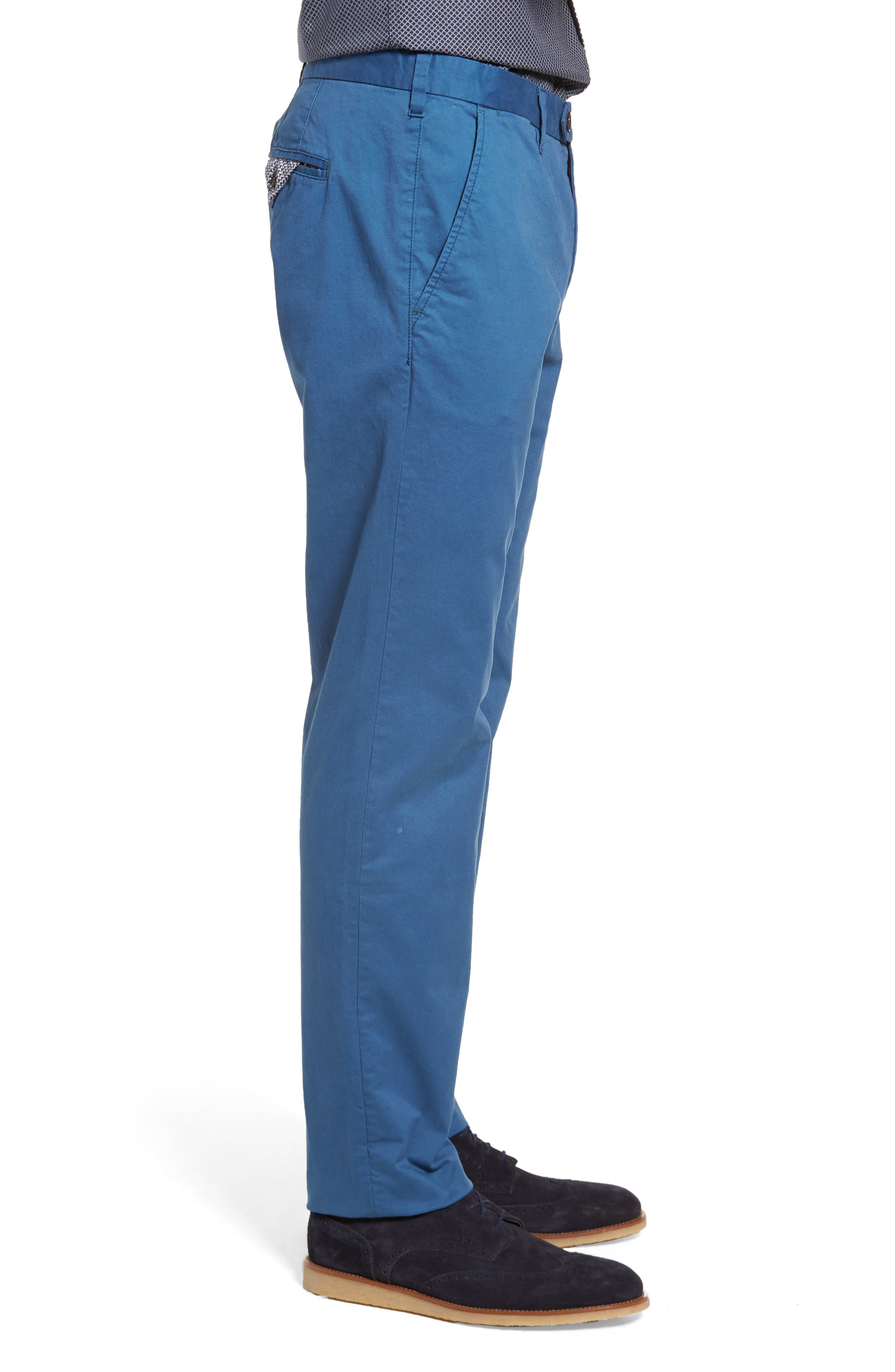 Procor Slim Fit Chino Pants,                             Alternate thumbnail 3, color,                             Navy