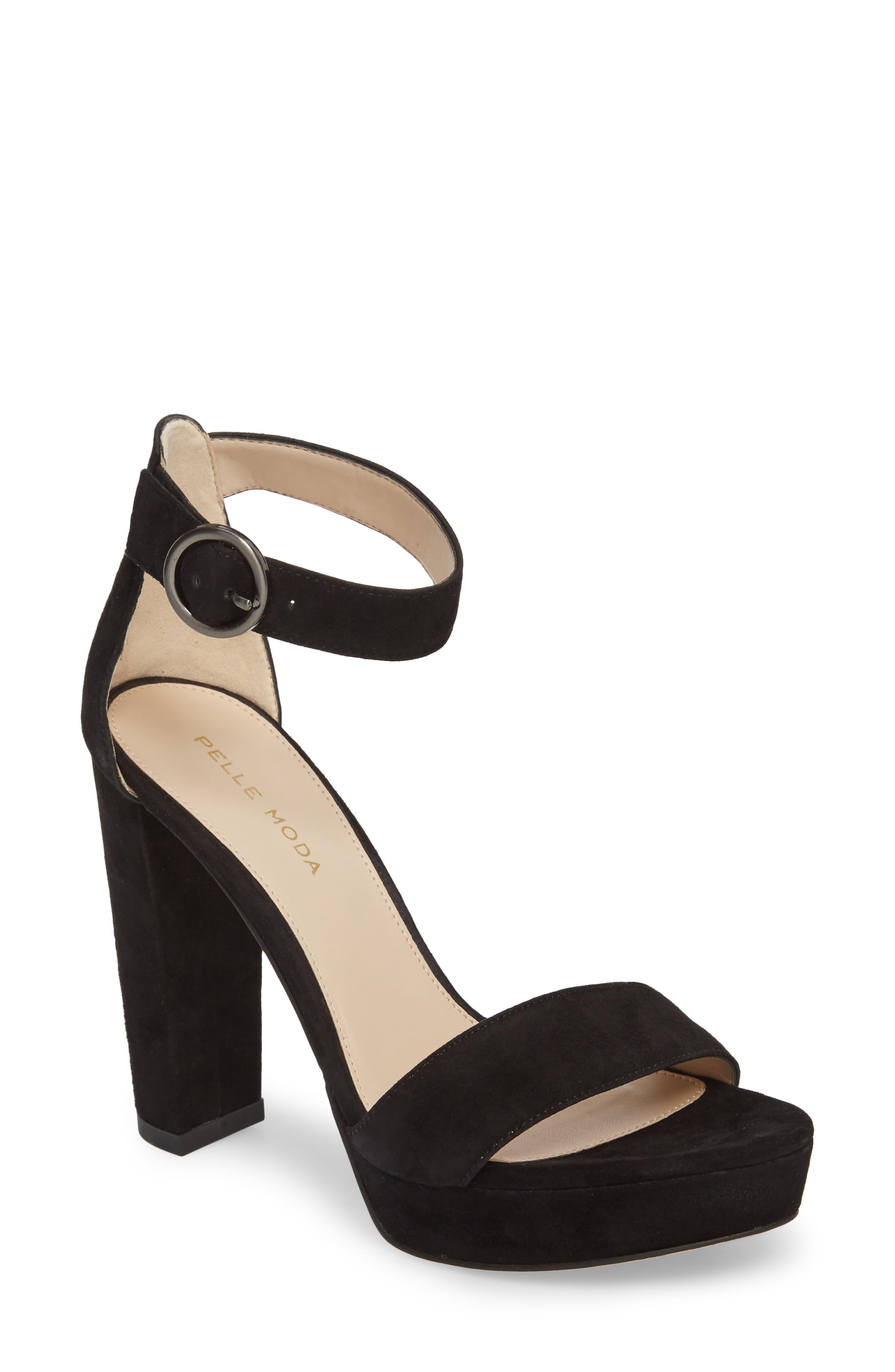 Palo 2 Platform Sandal,                             Main thumbnail 1, color,                             Black Suede