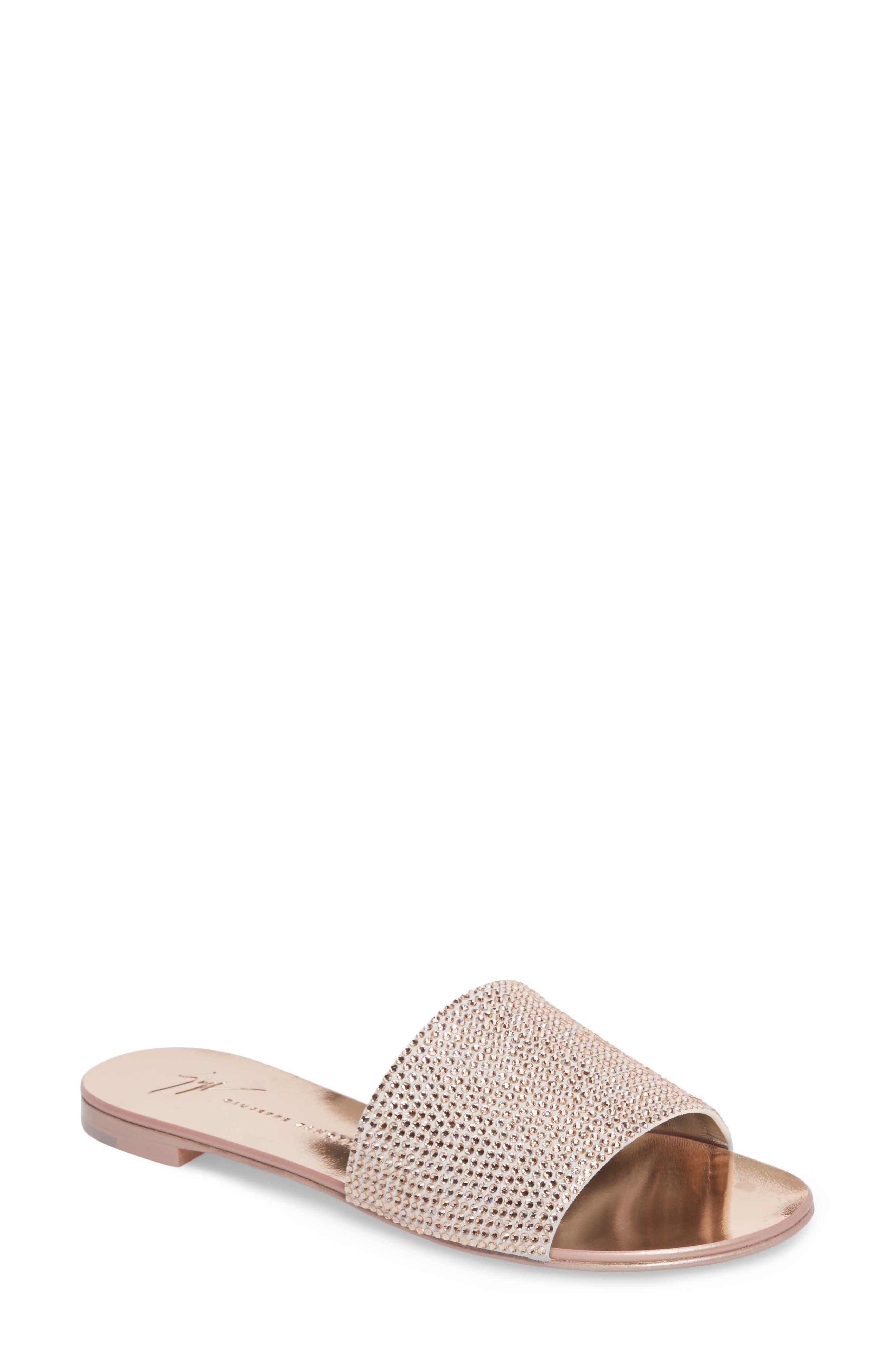 Giuseppe Zanotti Crystal Embellished Slide Sandal (Women)
