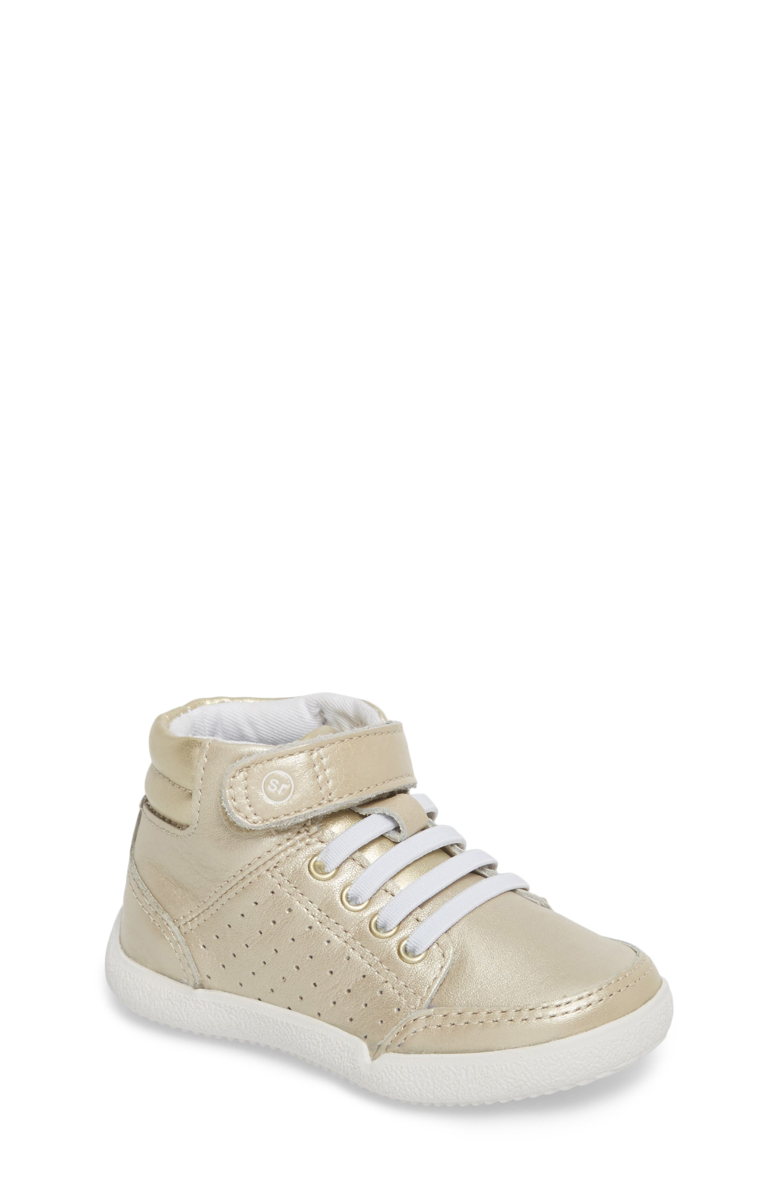 Stone High Top Sneaker,                         Main,                         color, Champagne Leather
