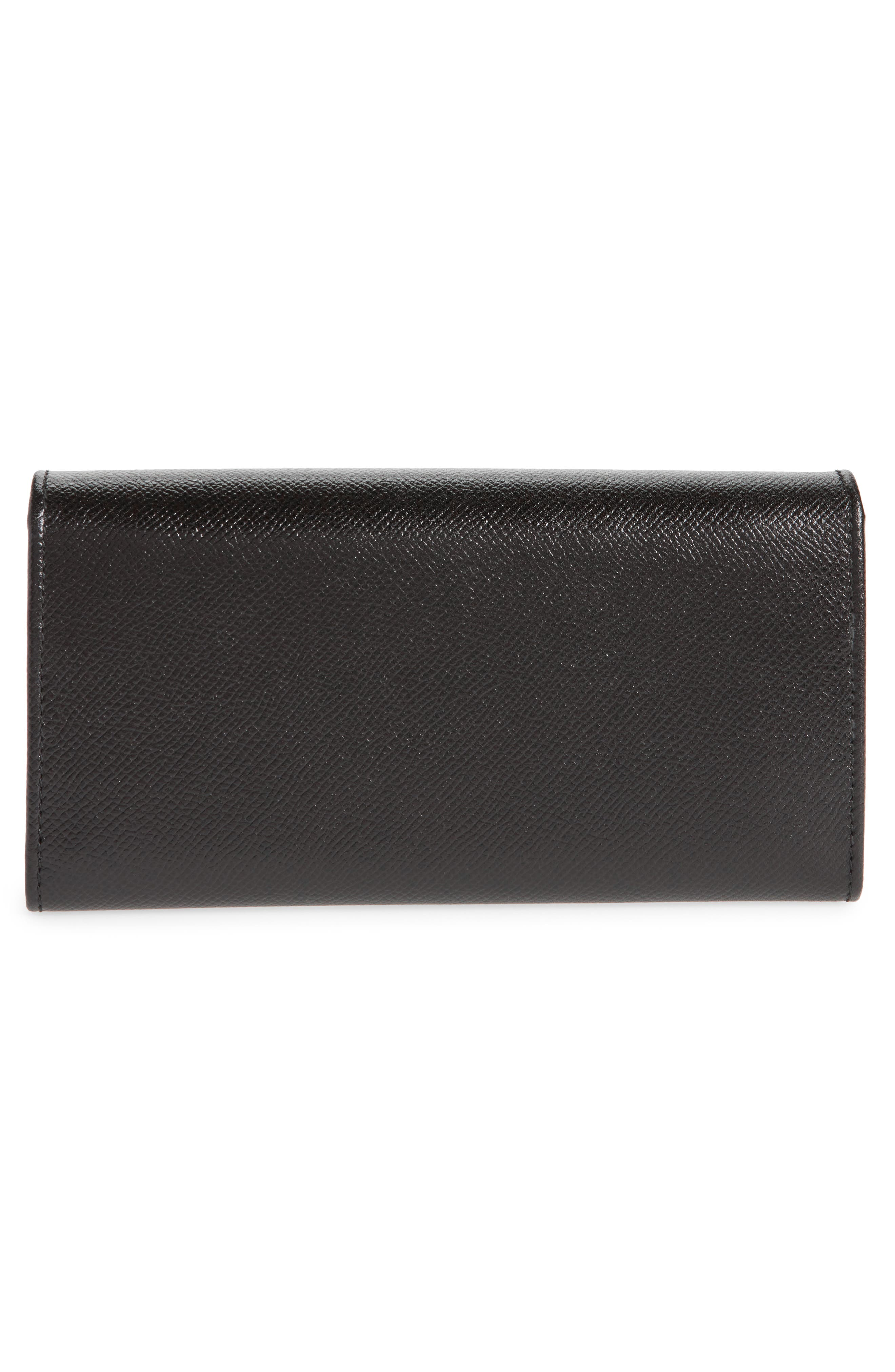 Gancio Leather Continental Wallet,                             Alternate thumbnail 4, color,                             Nero