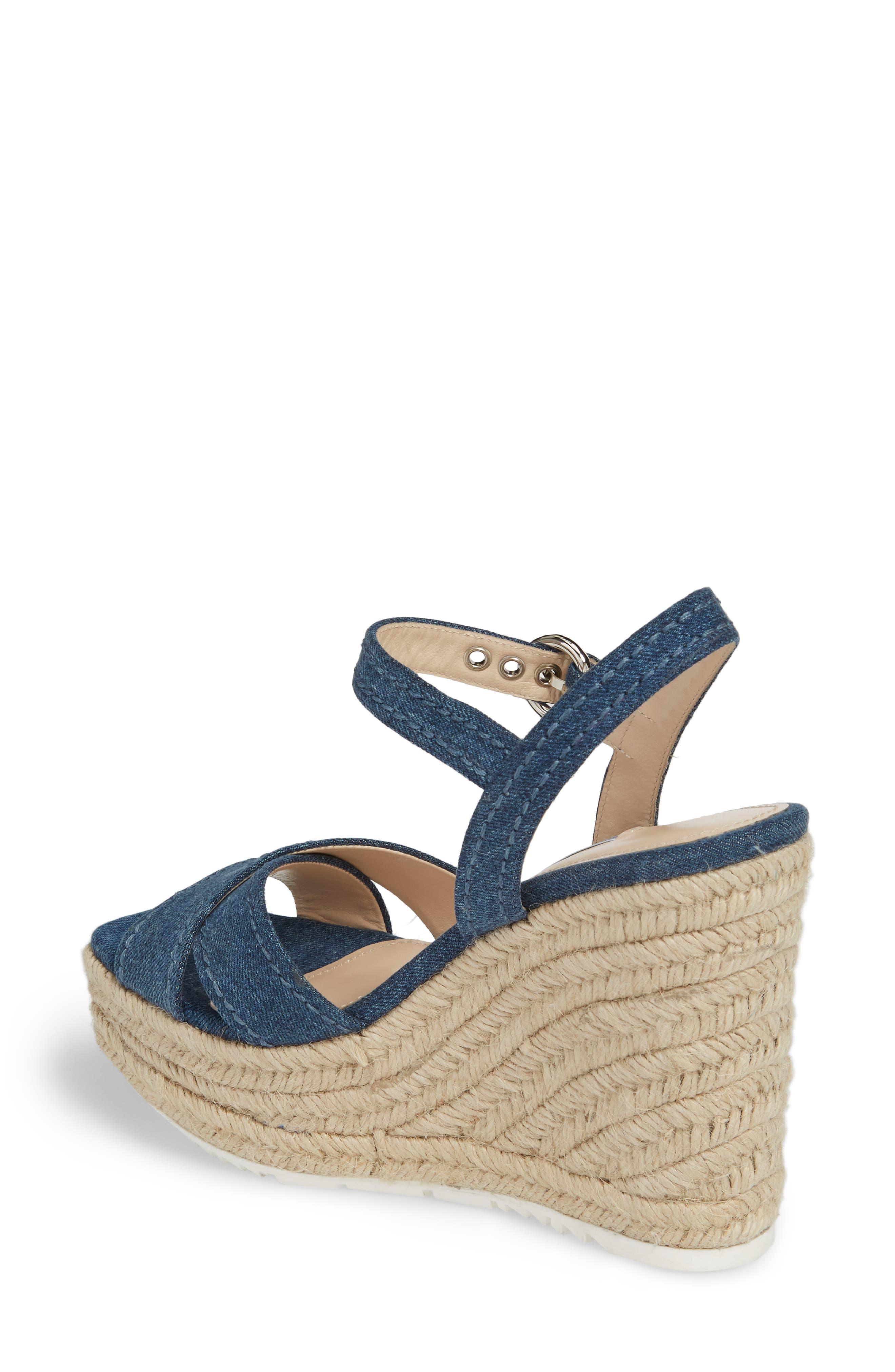 Espadrille Wedge Sandal,                             Alternate thumbnail 2, color,                             Blue