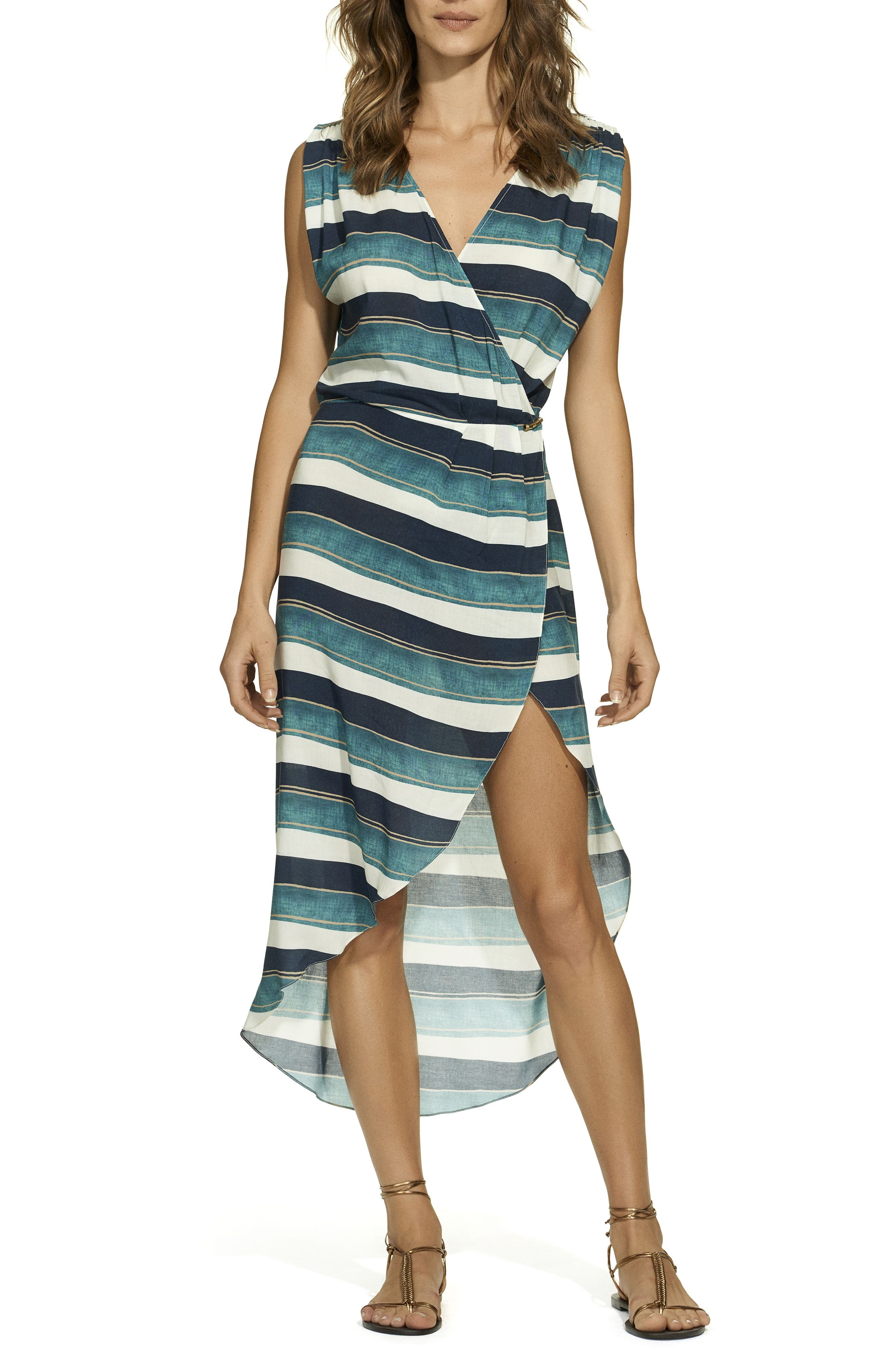 San Andres Gisele Cover-Up Caftan,                         Main,                         color, Blue