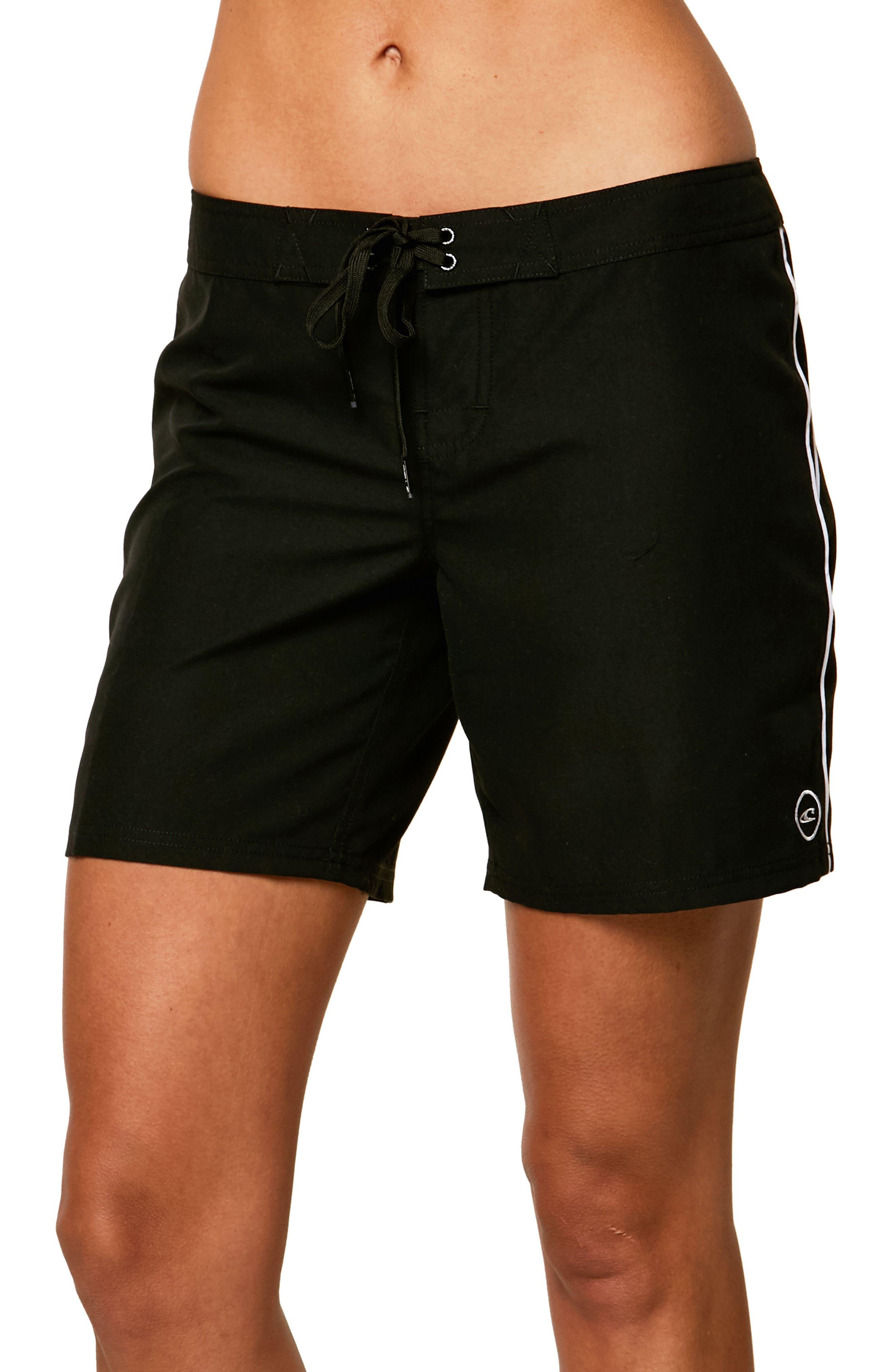 Salt Water Board Shorts,                         Main,                         color, Black