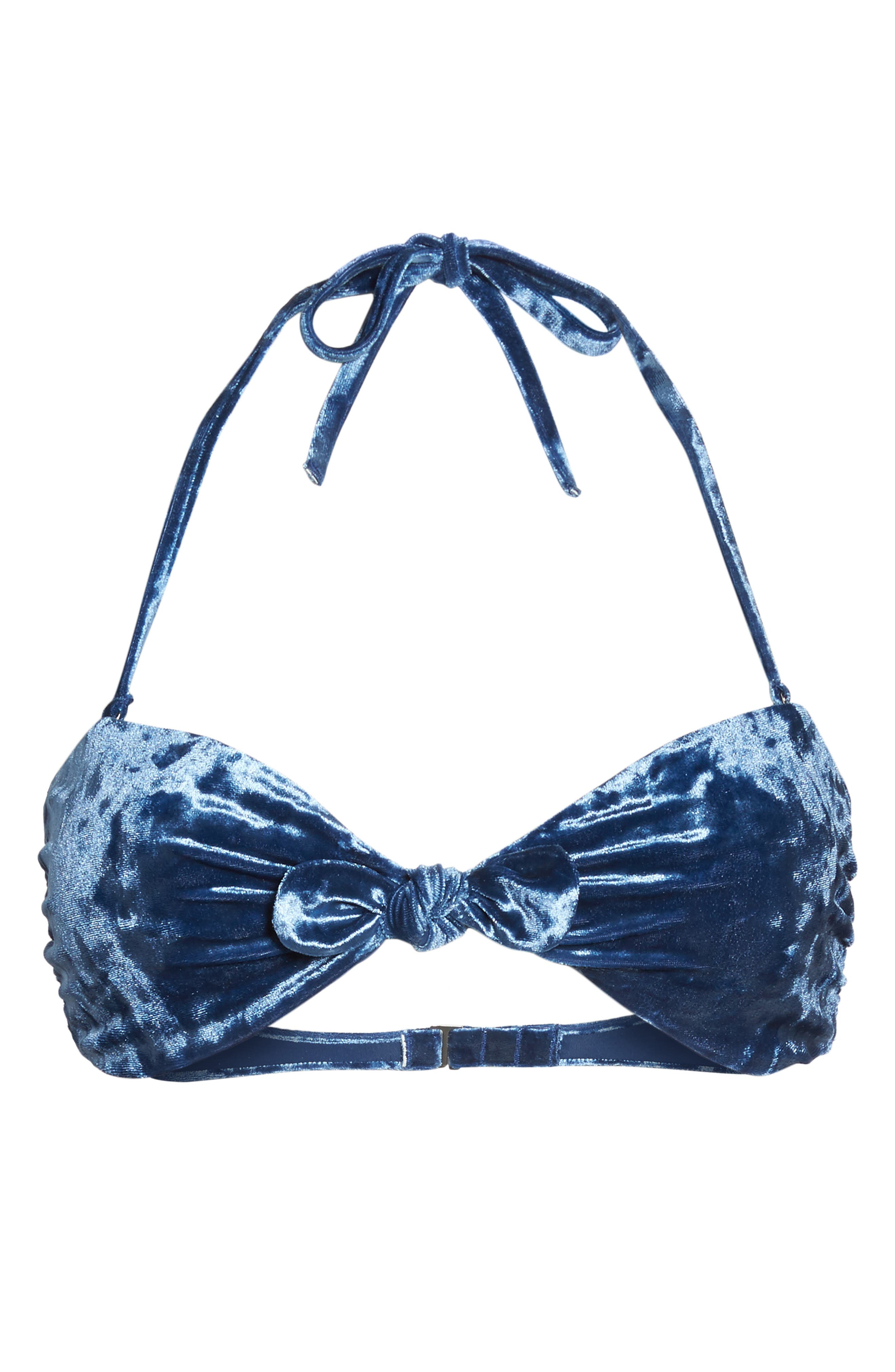 Alternate Image 5  - Dolce Vita Velvet Bandeau Bikini Top