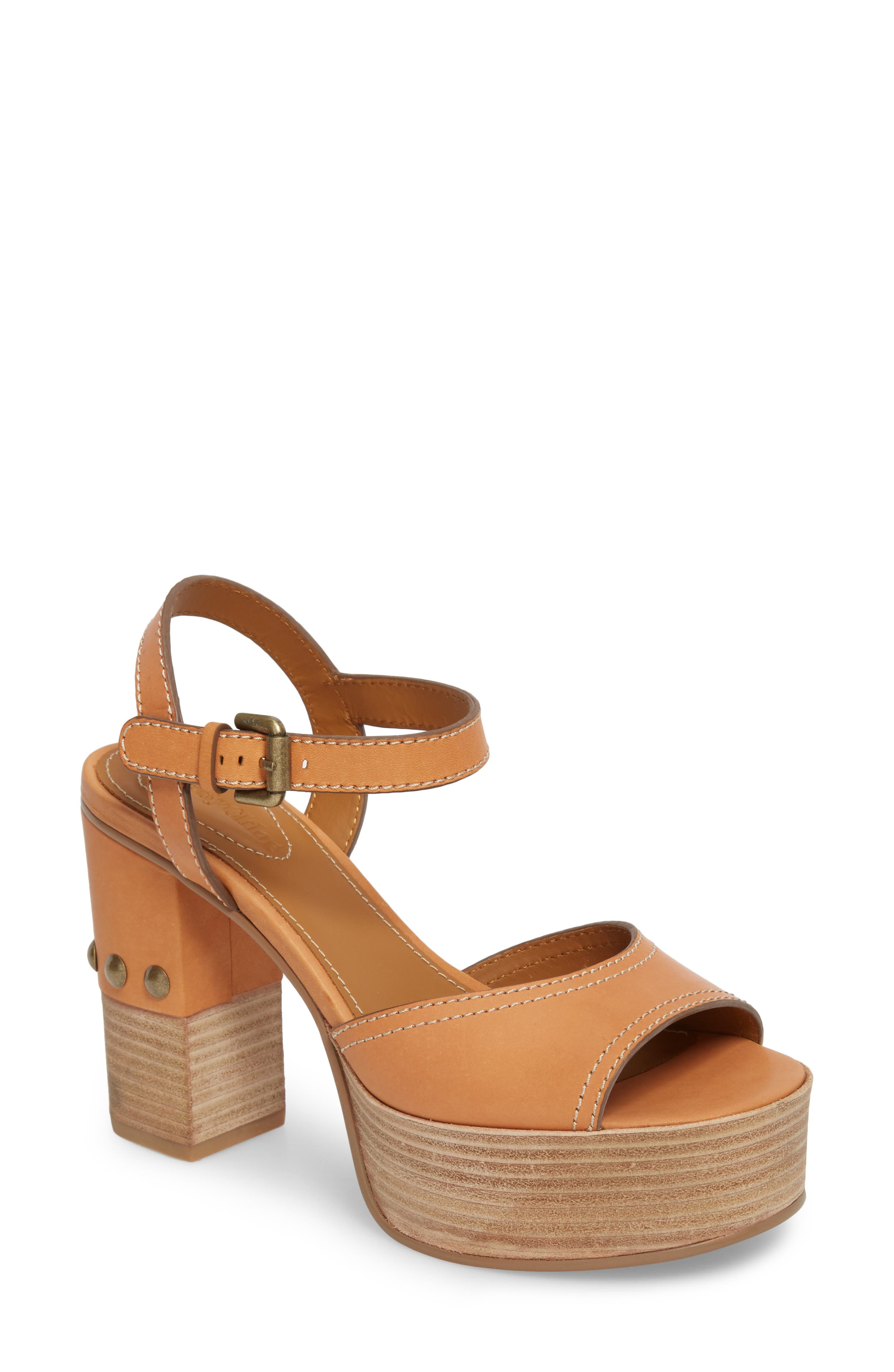 Alternate Image 1 Selected - See by Chloé Tina Block Heel Platform (Women)