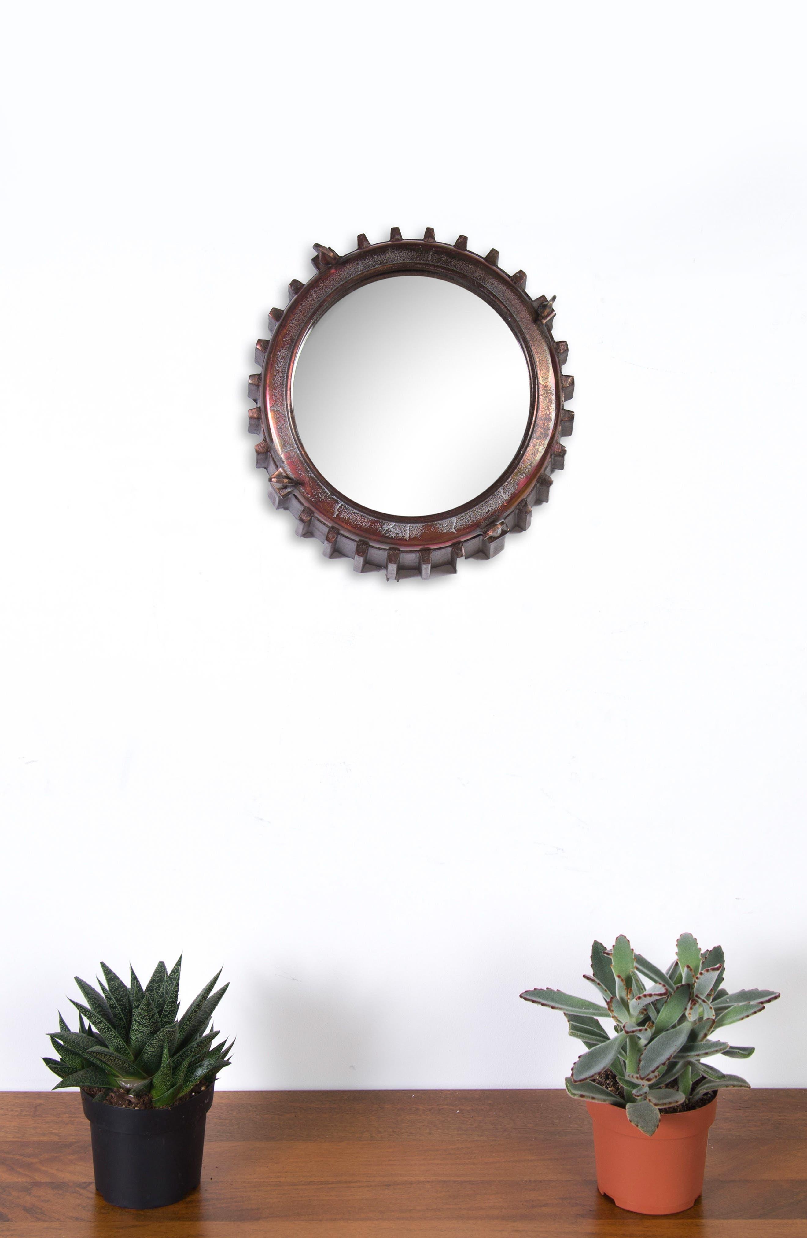 Neston Mirror,                             Alternate thumbnail 2, color,                             Copper/ Cobalt Blue/ Brass