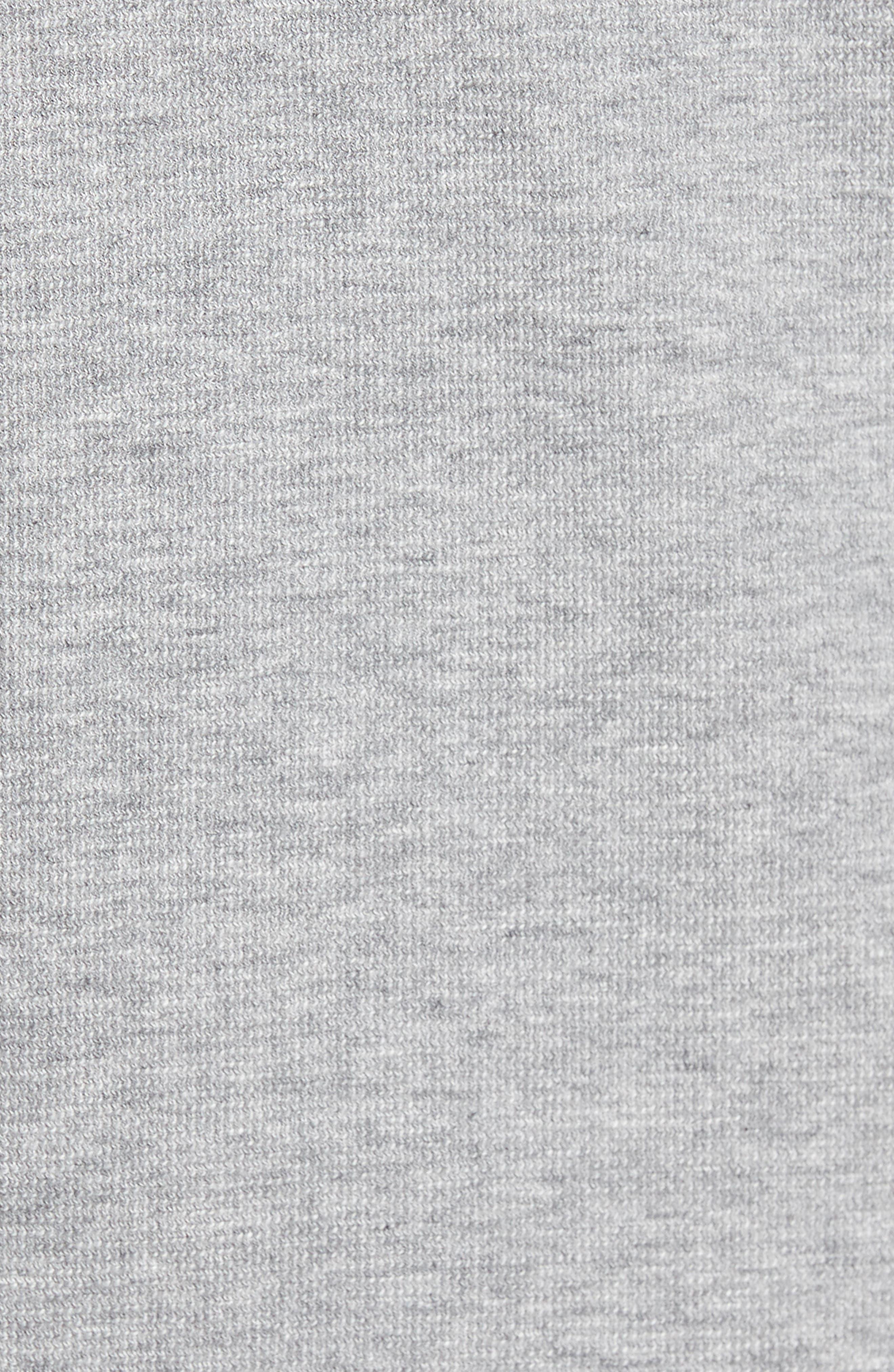 Daulton Ridge Waffle Knit Zip Hoodie,                             Alternate thumbnail 5, color,                             Grey Heather