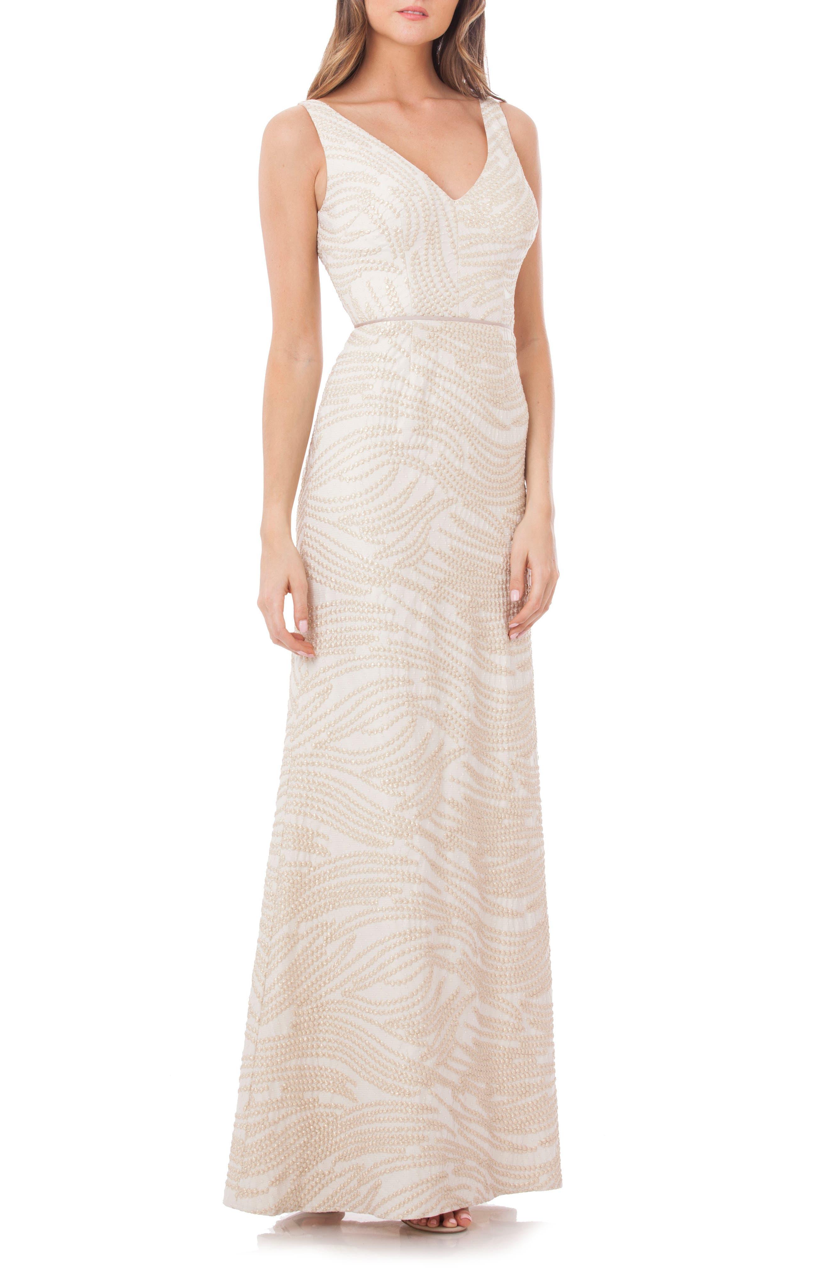 JS Collections Matelassé Gown