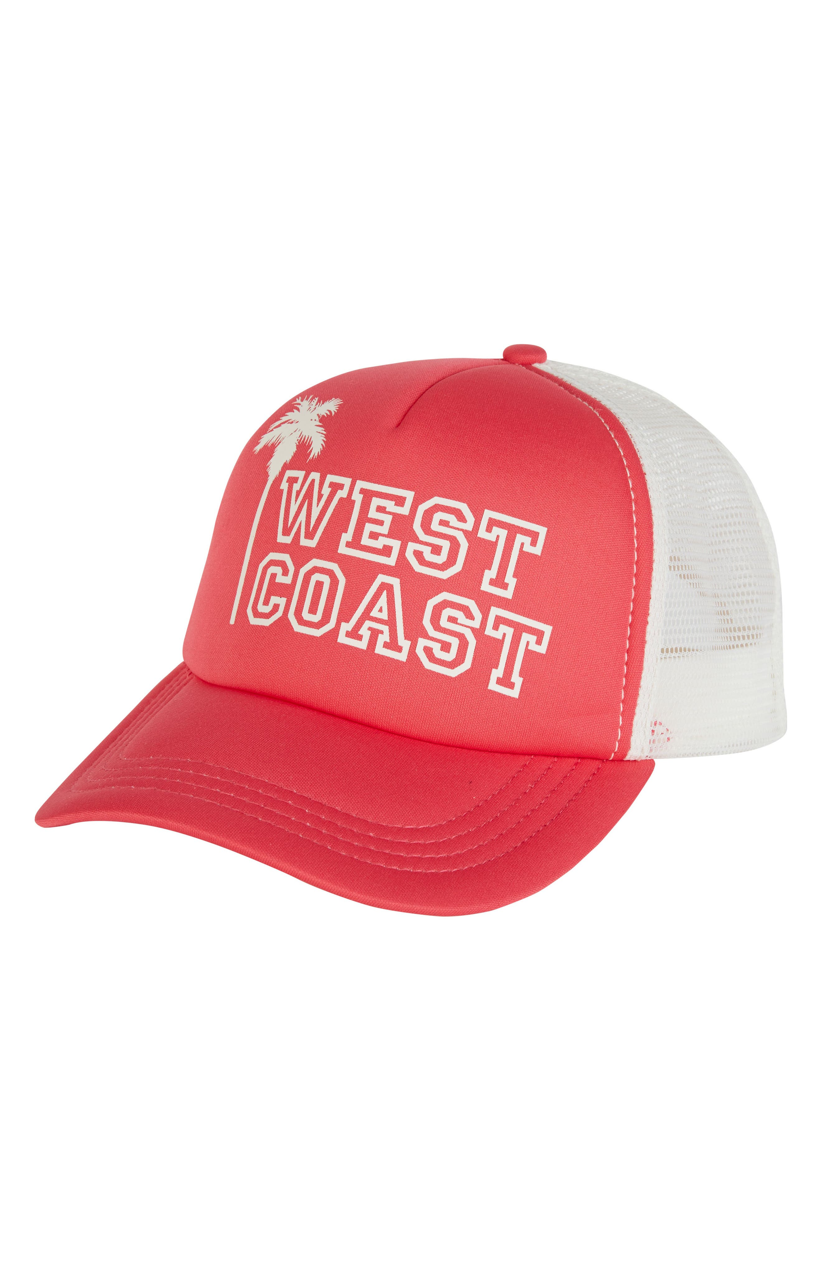 Across Waves Baseball Cap,                         Main,                         color, Passion Fruit