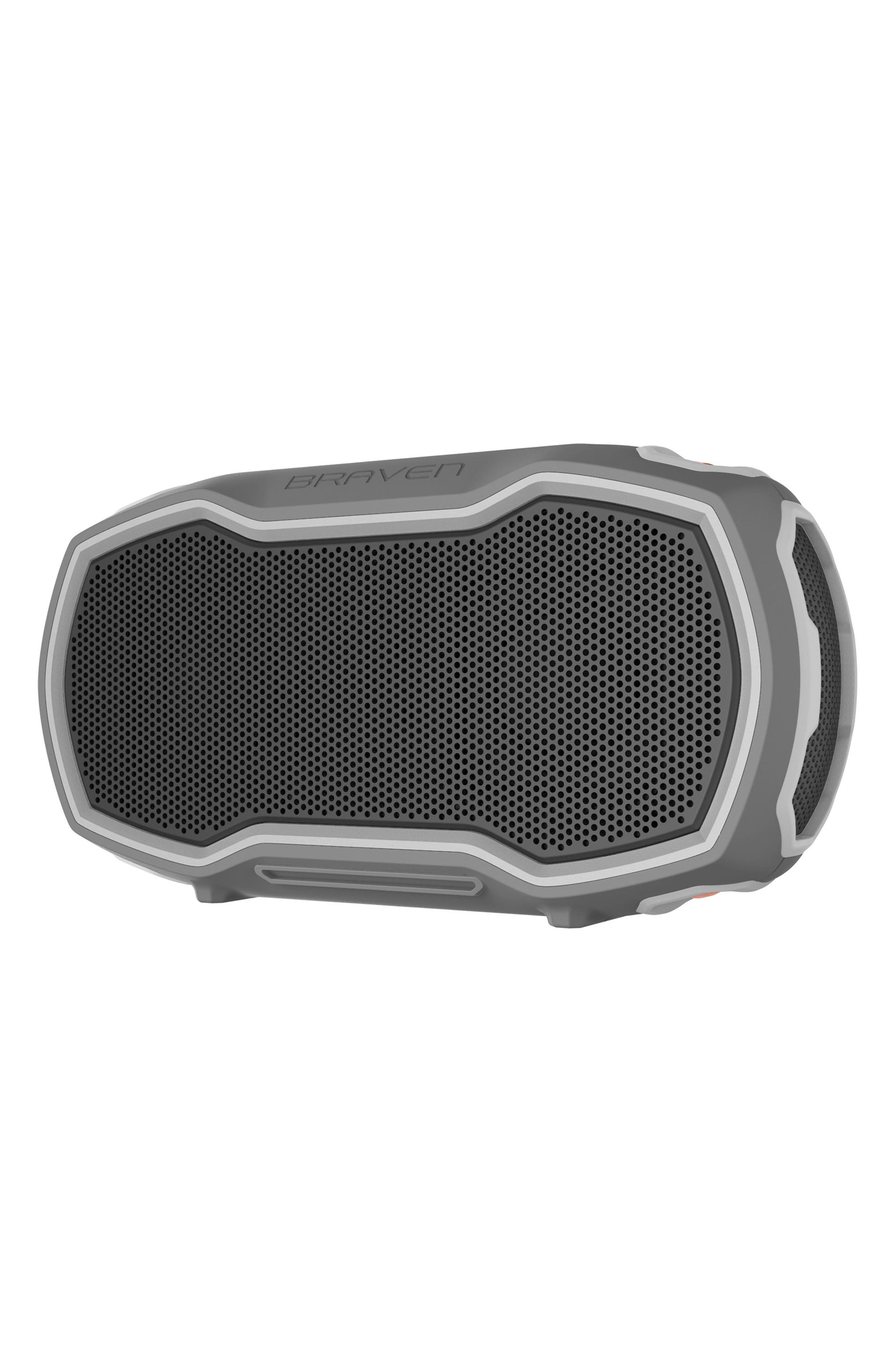 Ready Prime Bluetooth<sup>®</sup> Speaker,                             Alternate thumbnail 5, color,                             Grey/ Orange