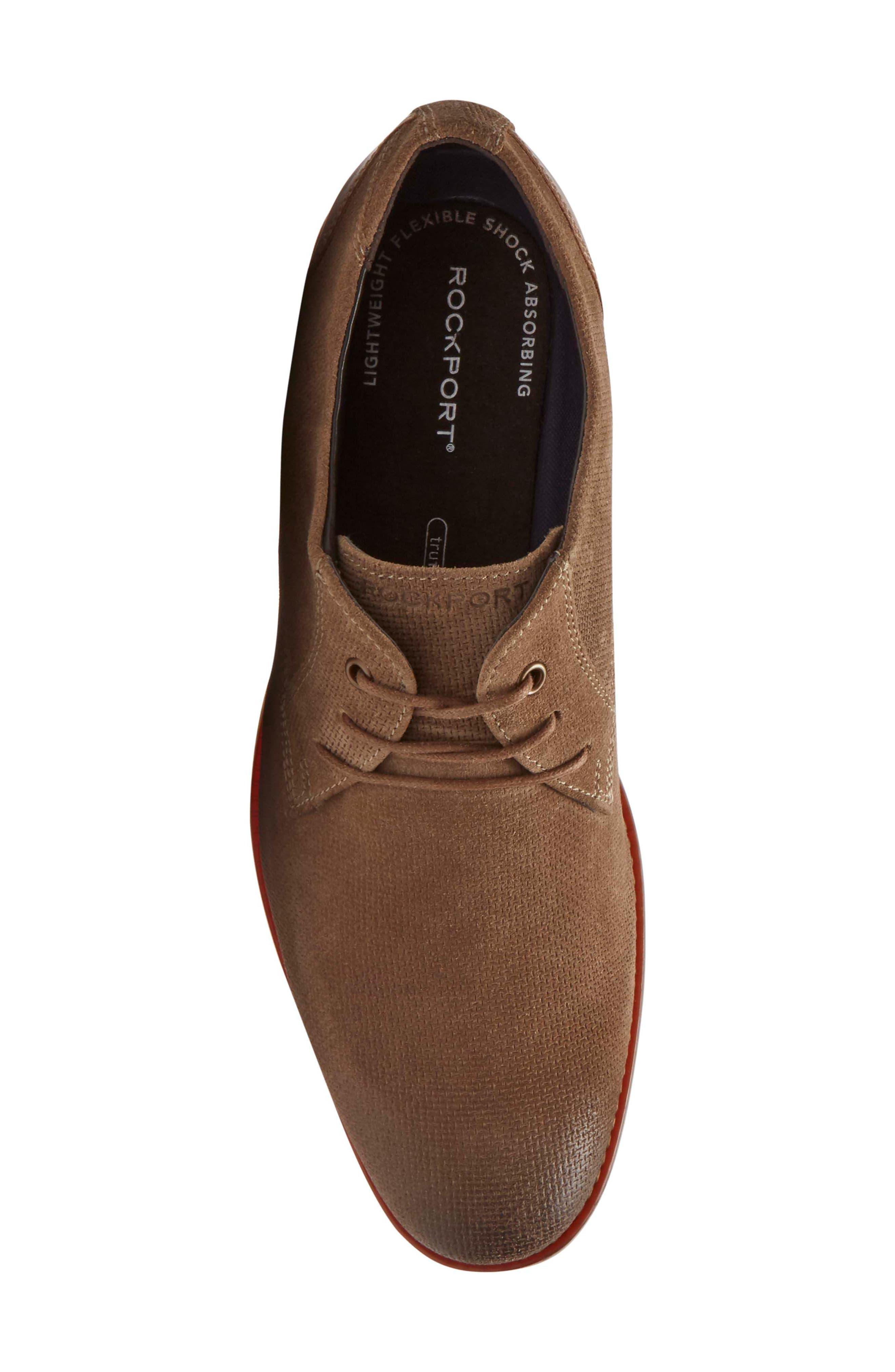 Style Purpose Plain Toe Derby,                             Alternate thumbnail 5, color,                             New Brown Suede