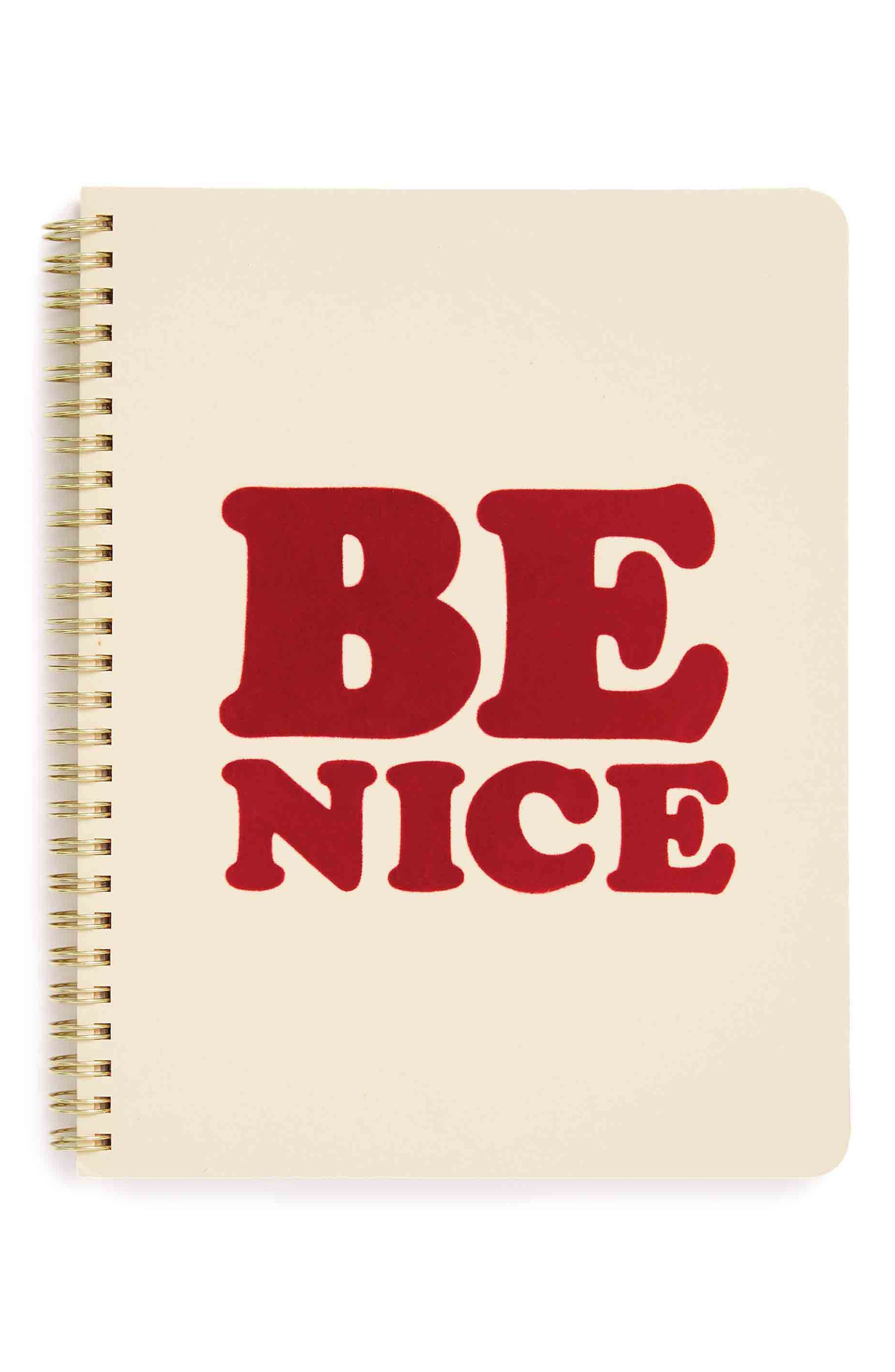 Alternate Image 1 Selected - ban.do Be Nice Mini Notebook