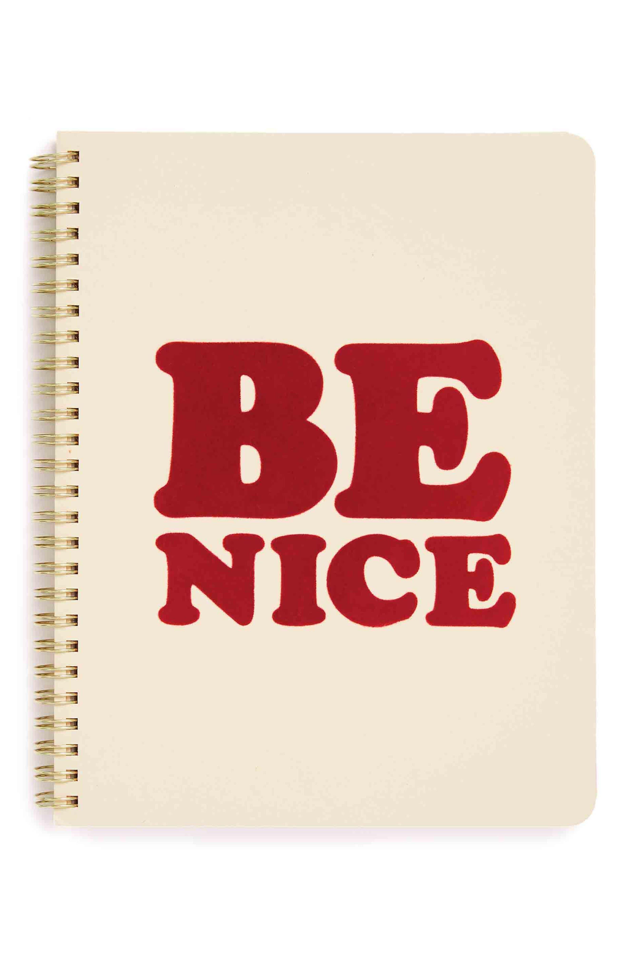 Be Nice Mini Notebook,                         Main,                         color, Cream