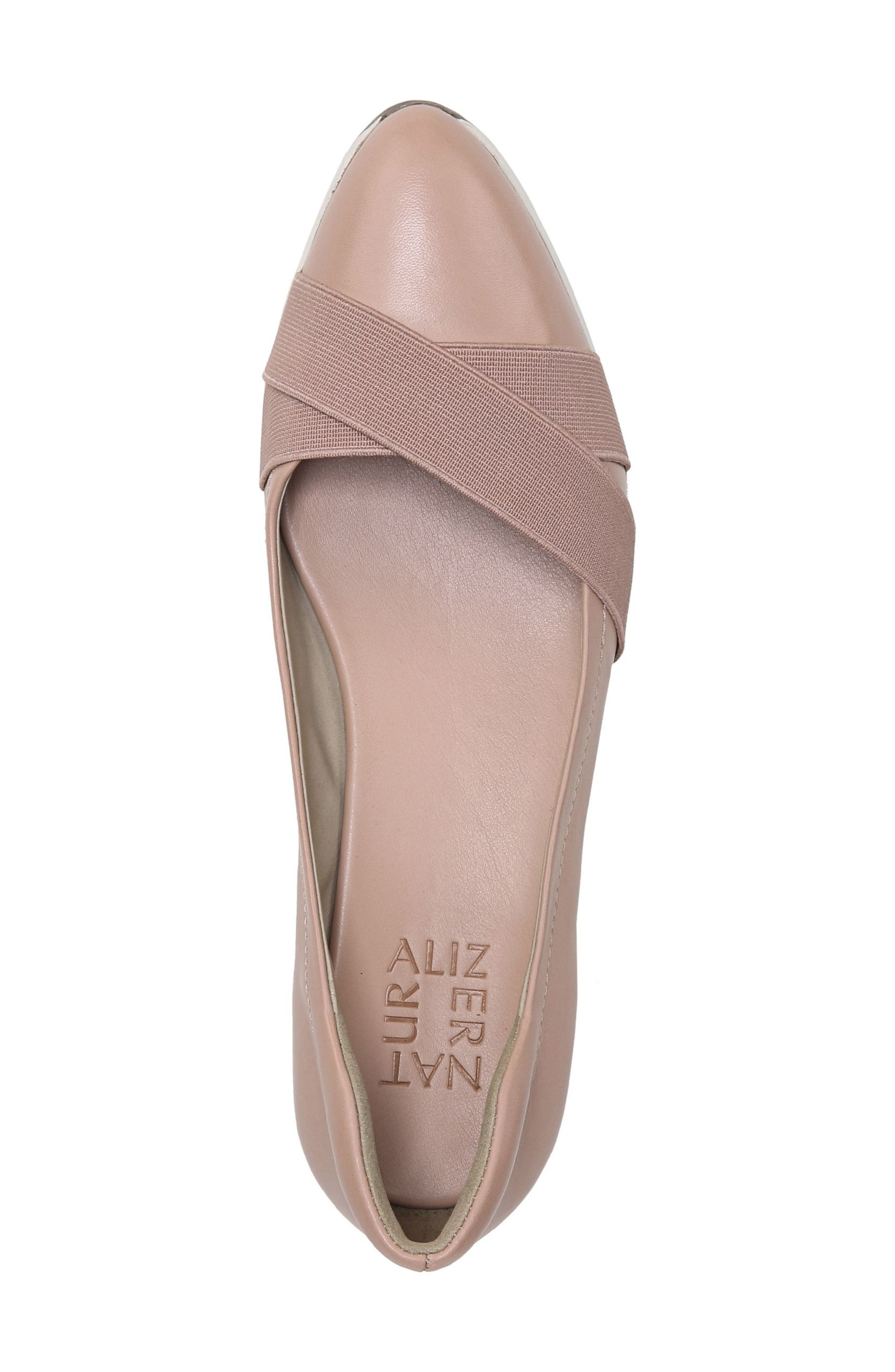 Harlyn Wedge Pump,                             Alternate thumbnail 7, color,                             Mauve Leather