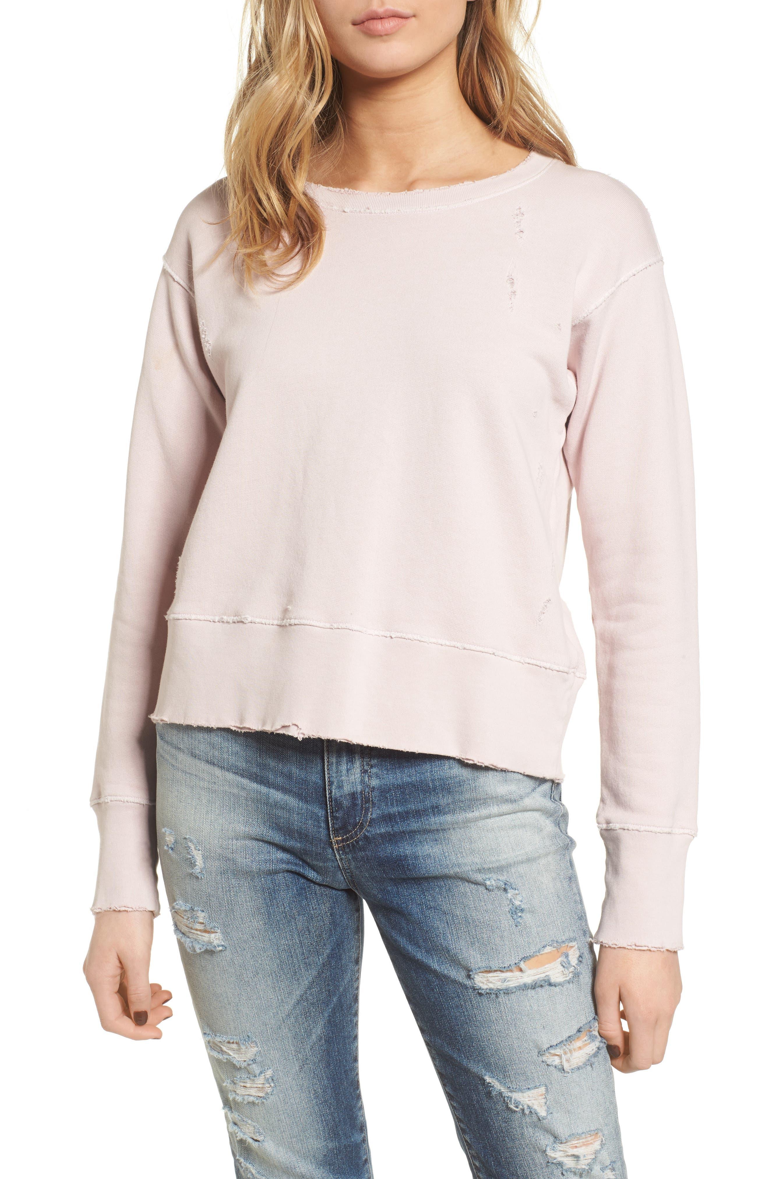 Tee Lab Cotton Sweatshirt,                         Main,                         color, Bazooka 10 Year Vintage Wash