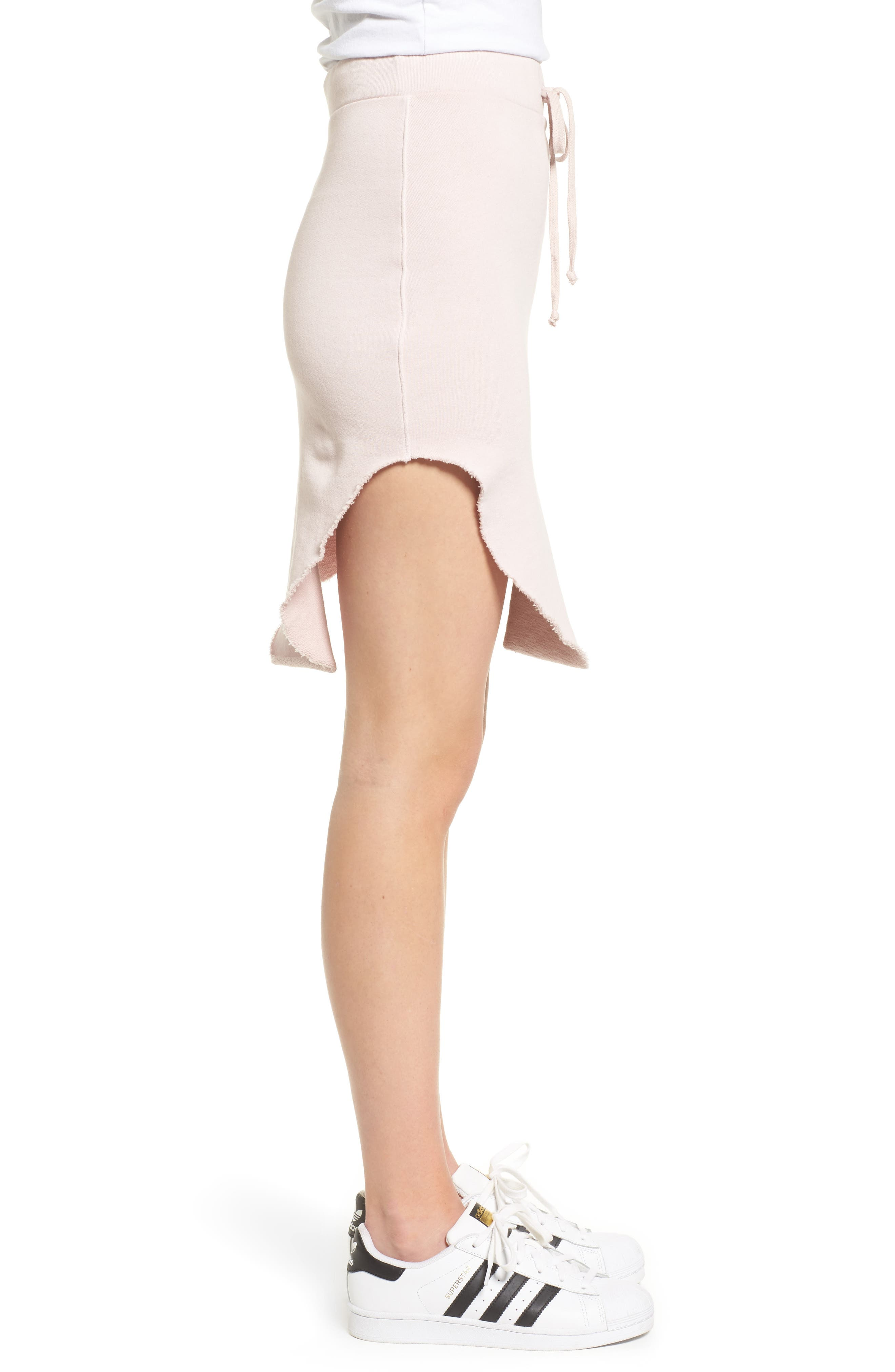 Tee Lab Short Fleece Skirt,                             Alternate thumbnail 3, color,                             Bazooka