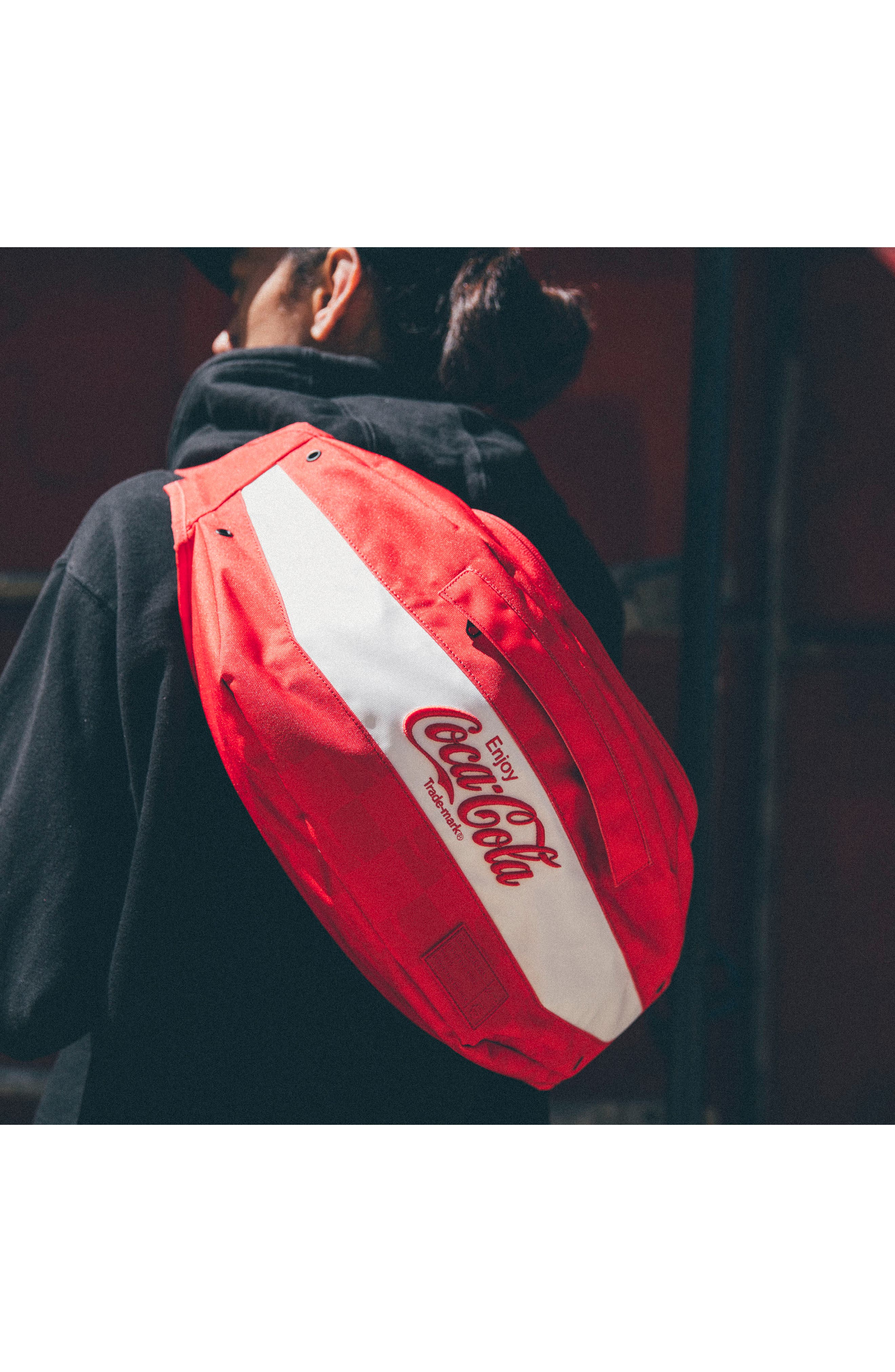 Coca Cola Sneaker Sling,                             Alternate thumbnail 6, color,                             Red