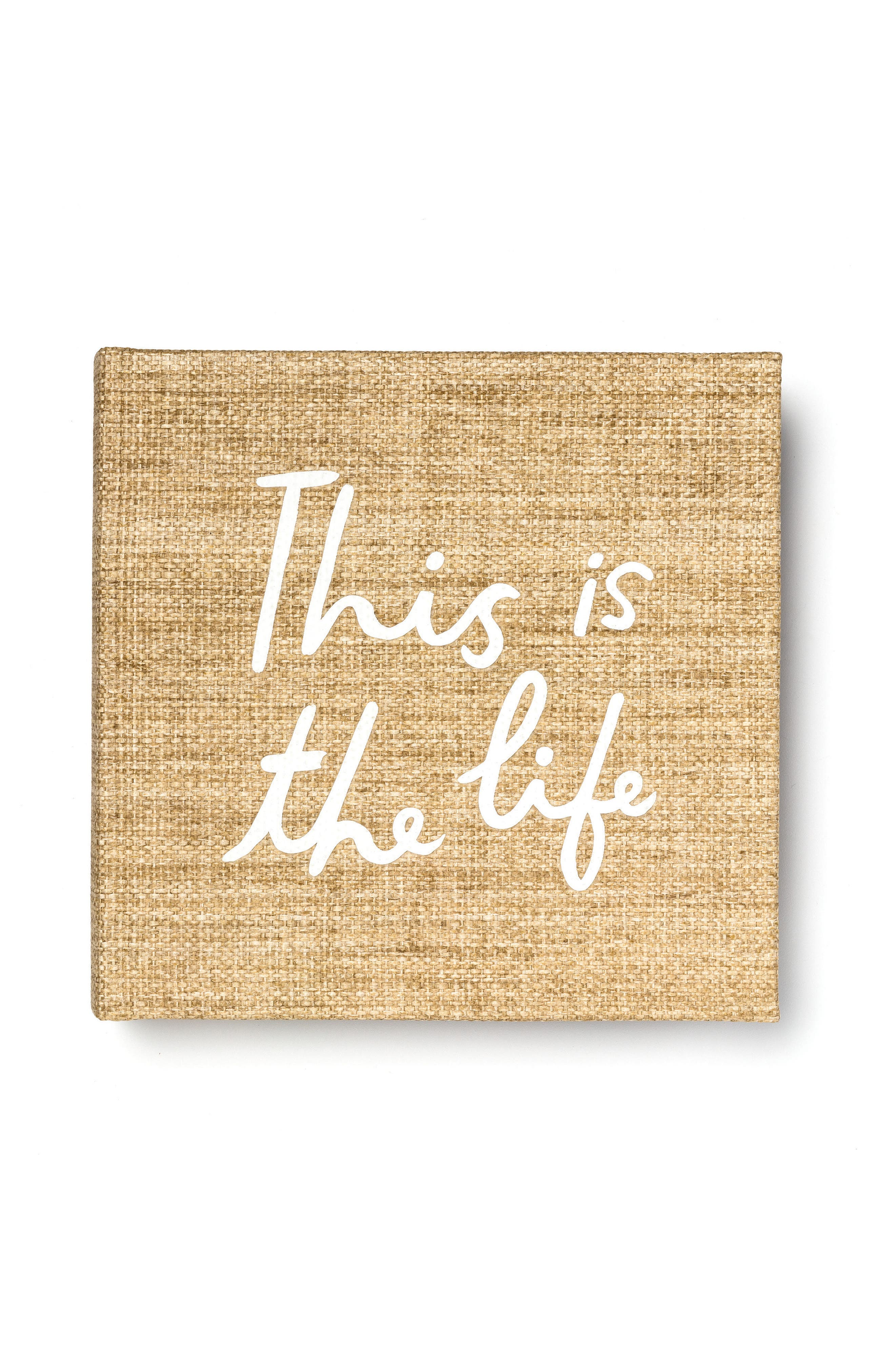 this is the life photo album,                         Main,                         color, Tan