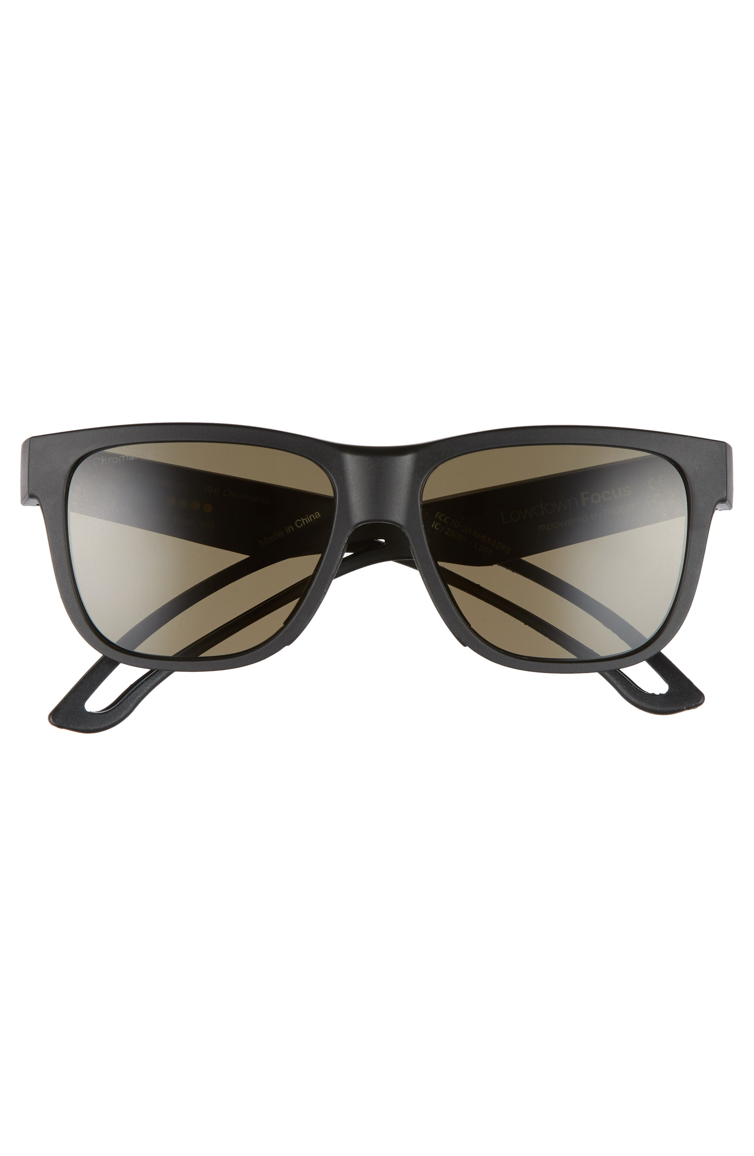 Lowdown Focus 56mm ChromaPop Sunglasses,                             Alternate thumbnail 2, color,                             Matte Black/ Grey Green