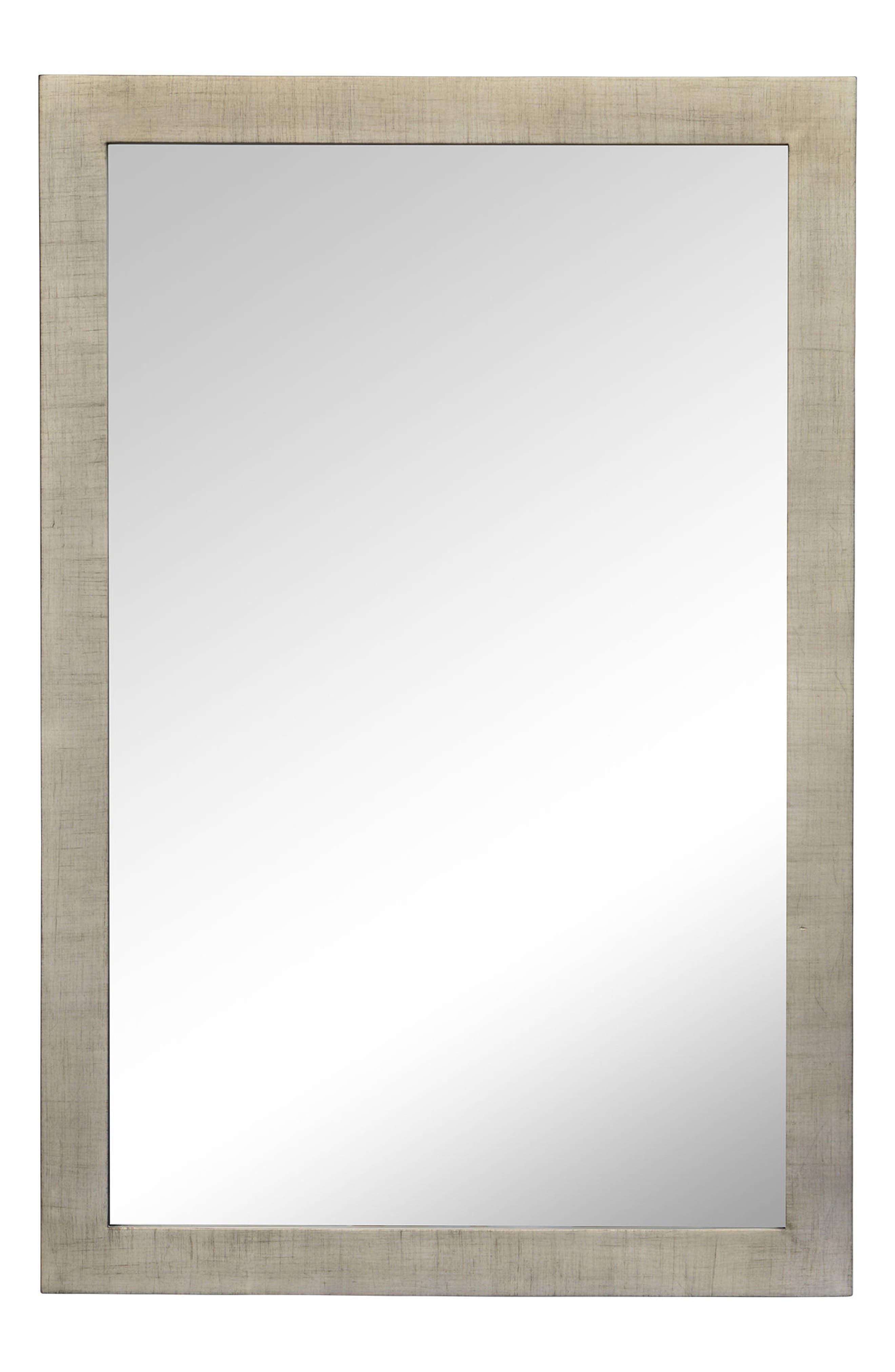 Emery Mirror,                         Main,                         color, Silver Leaf